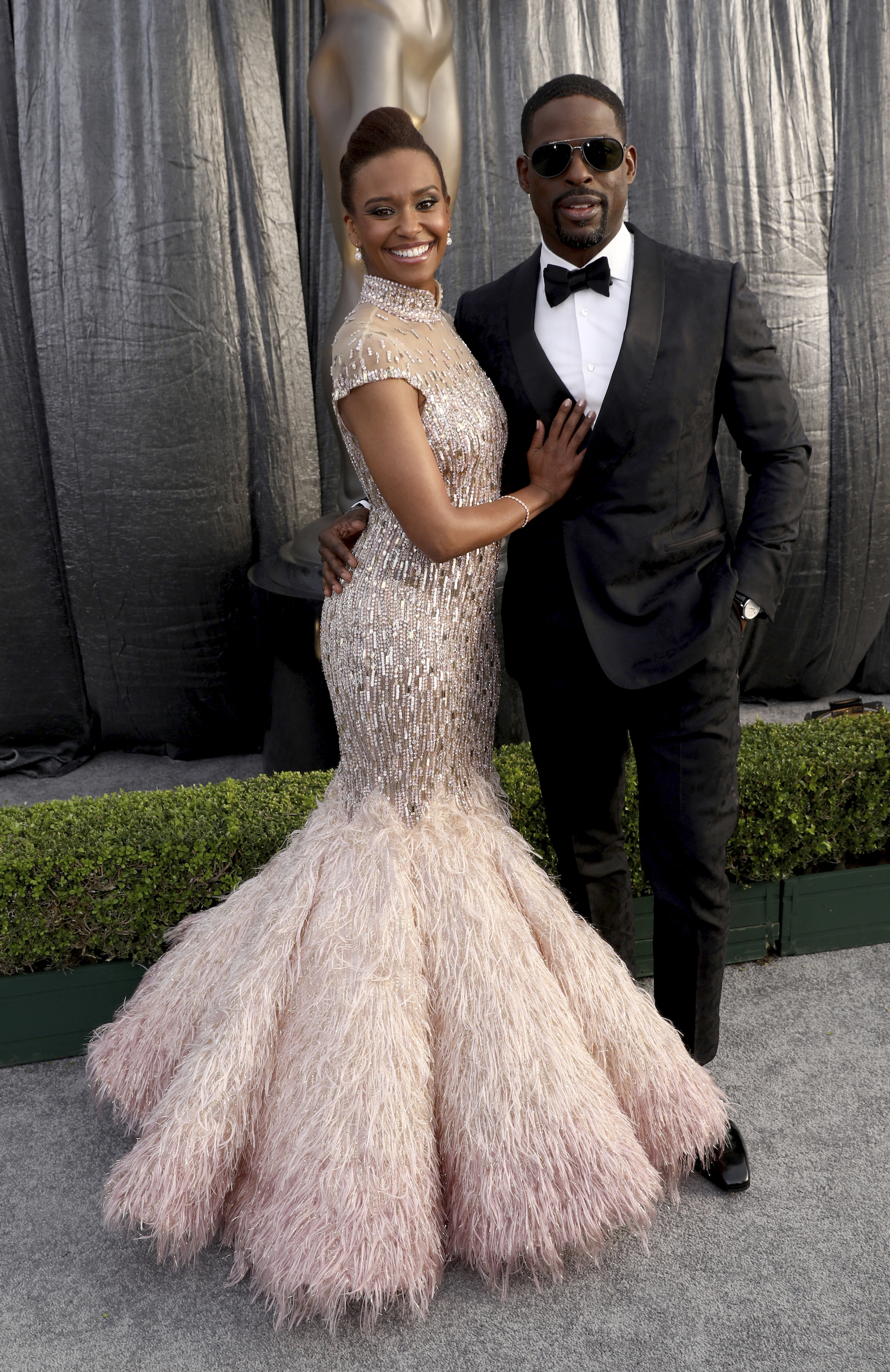 "<div class=""meta image-caption""><div class=""origin-logo origin-image ap""><span>AP</span></div><span class=""caption-text"">Ryan Michelle Bathe, left, and Sterling K. Brown arrive at the 25th annual Screen Actors Guild Awards at the Shrine Auditorium & Expo Hall on Sunday, Jan. 27, 2019, in Los Angeles. (Matt Sayles/Invision/AP)</span></div>"