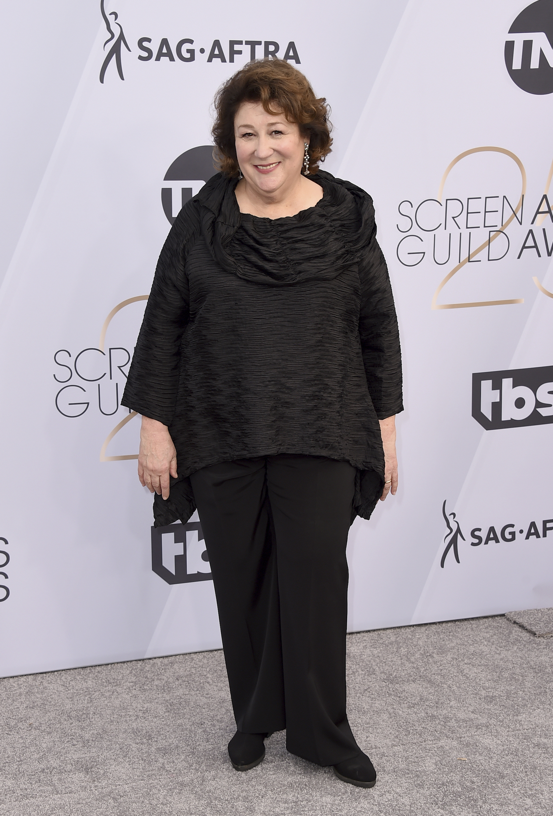 <div class='meta'><div class='origin-logo' data-origin='AP'></div><span class='caption-text' data-credit='Jordan Strauss/Invision/AP'>Margo Martindale arrives at the 25th annual Screen Actors Guild Awards at the Shrine Auditorium & Expo Hall on Sunday, Jan. 27, 2019, in Los Angeles.</span></div>