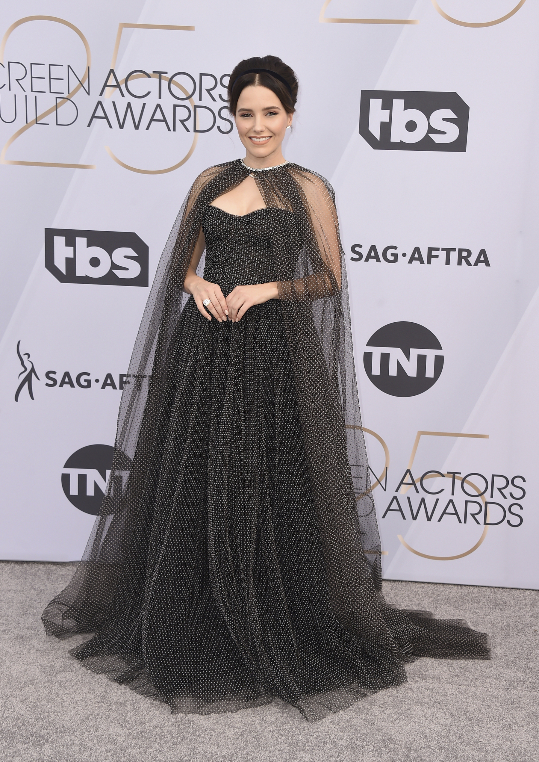 <div class='meta'><div class='origin-logo' data-origin='AP'></div><span class='caption-text' data-credit='Jordan Strauss/Invision/AP'>Sophia Bush arrives at the 25th annual Screen Actors Guild Awards at the Shrine Auditorium & Expo Hall on Sunday, Jan. 27, 2019, in Los Angeles.</span></div>