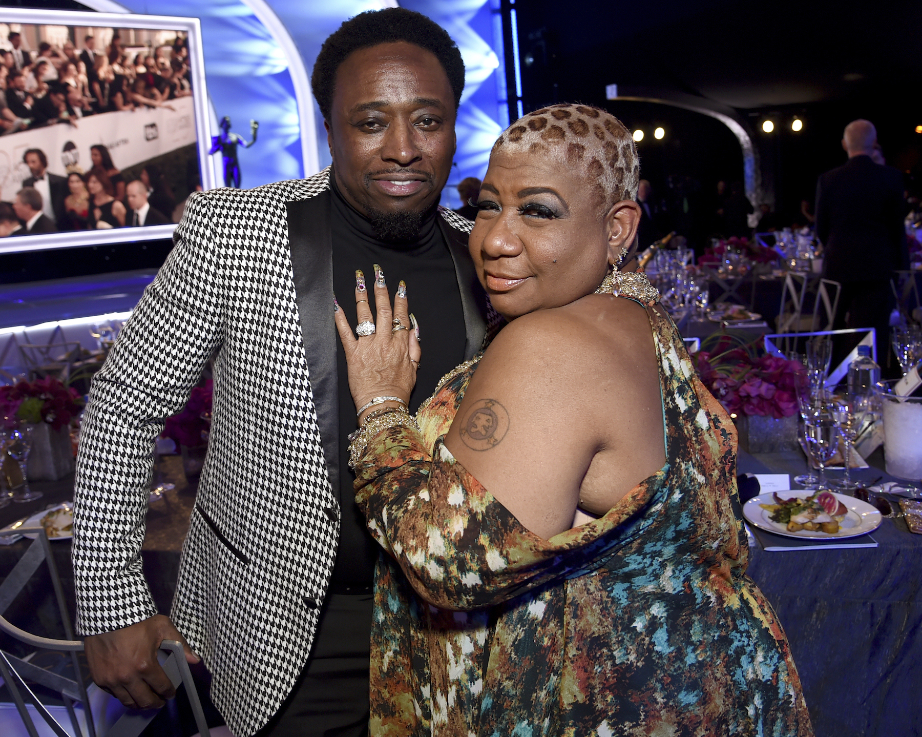 <div class='meta'><div class='origin-logo' data-origin='AP'></div><span class='caption-text' data-credit='Richard Shotwell/Invision/AP'>Eddie Griffin, left and Luenell attends the 25th annual Screen Actors Guild Awards at the Shrine Auditorium & Expo Hall on Sunday, Jan. 27, 2019, in Los Angeles.</span></div>