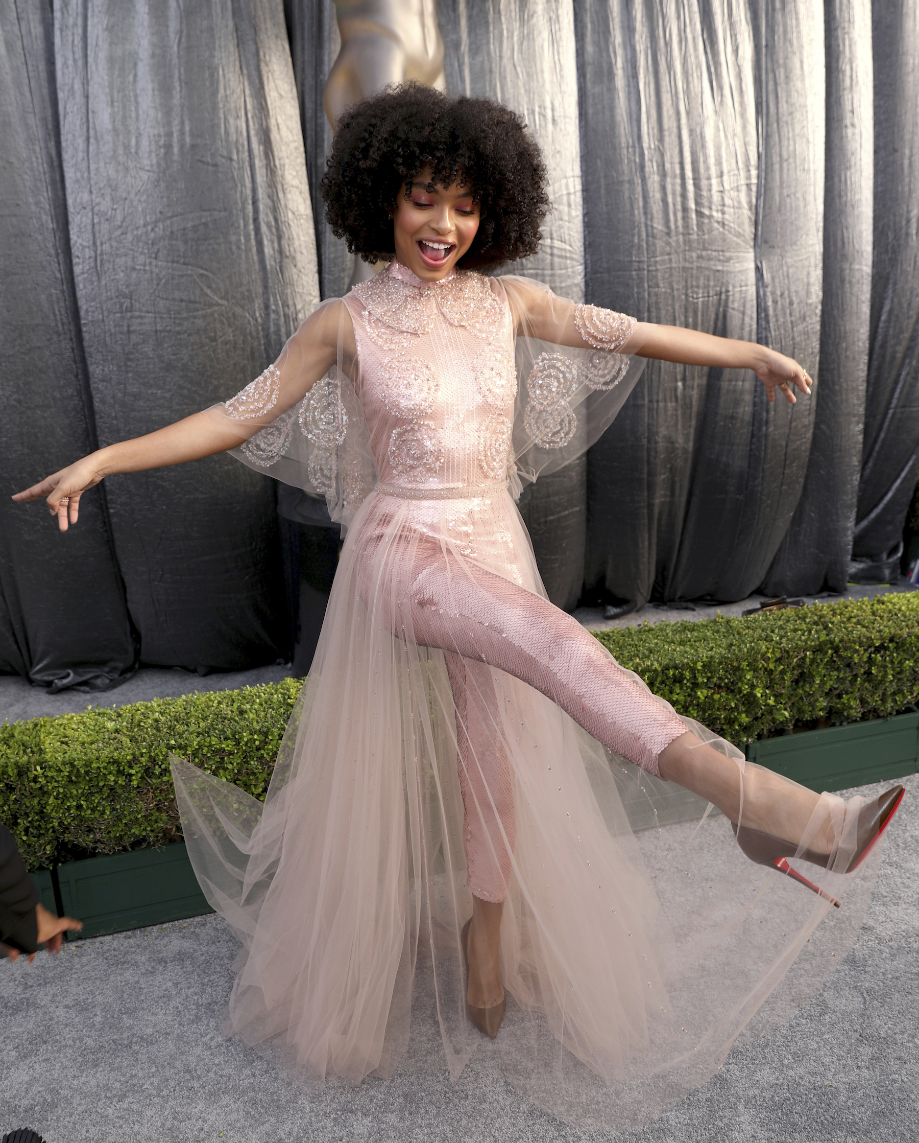<div class='meta'><div class='origin-logo' data-origin='AP'></div><span class='caption-text' data-credit='Matt Sayles/Invision/AP'>Yara Shahidi arrives at the 25th annual Screen Actors Guild Awards at the Shrine Auditorium & Expo Hall on Sunday, Jan. 27, 2019, in Los Angeles.</span></div>