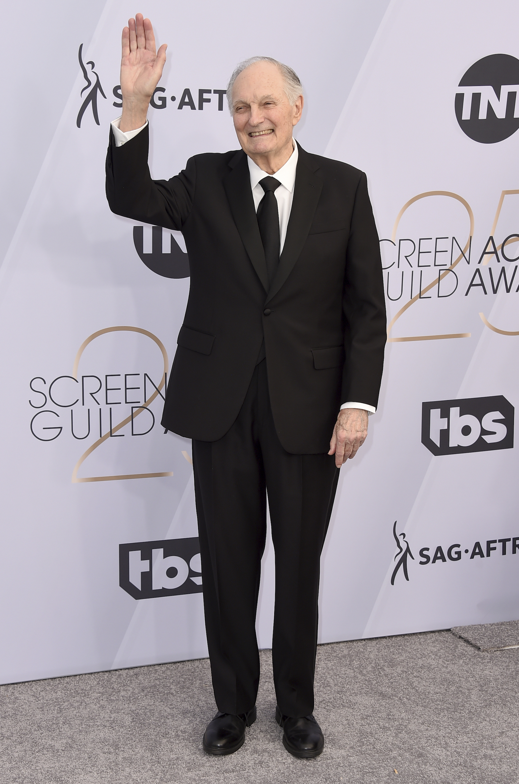 <div class='meta'><div class='origin-logo' data-origin='AP'></div><span class='caption-text' data-credit='Jordan Strauss/Invision/AP'>Alan Alda arrives at the 25th annual Screen Actors Guild Awards at the Shrine Auditorium & Expo Hall on Sunday, Jan. 27, 2019, in Los Angeles.</span></div>