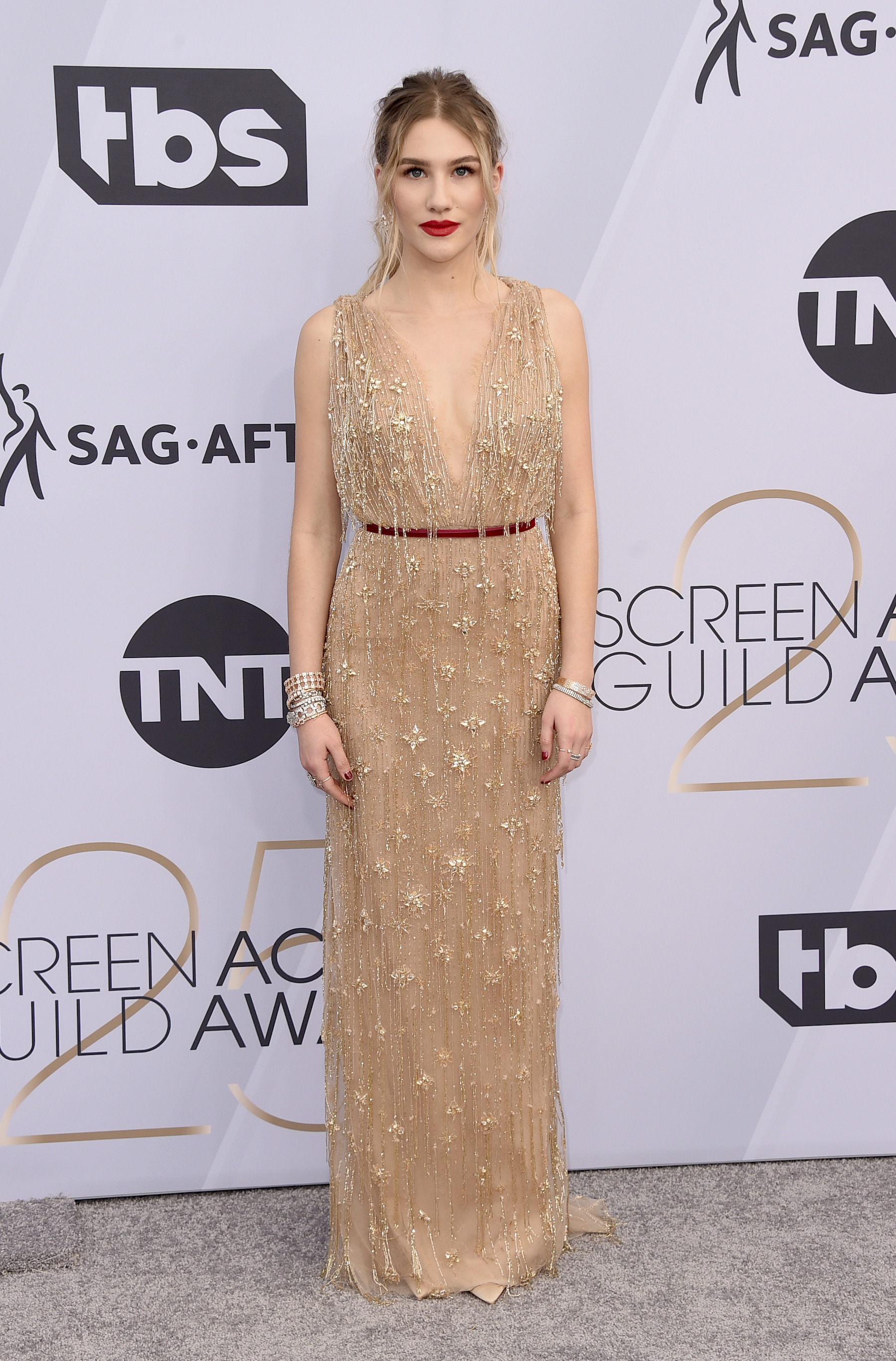<div class='meta'><div class='origin-logo' data-origin='AP'></div><span class='caption-text' data-credit='Jordan Strauss/Invision/AP'>Danika Yarosh arrives at the 25th annual Screen Actors Guild Awards at the Shrine Auditorium & Expo Hall on Sunday, Jan. 27, 2019, in Los Angeles.</span></div>