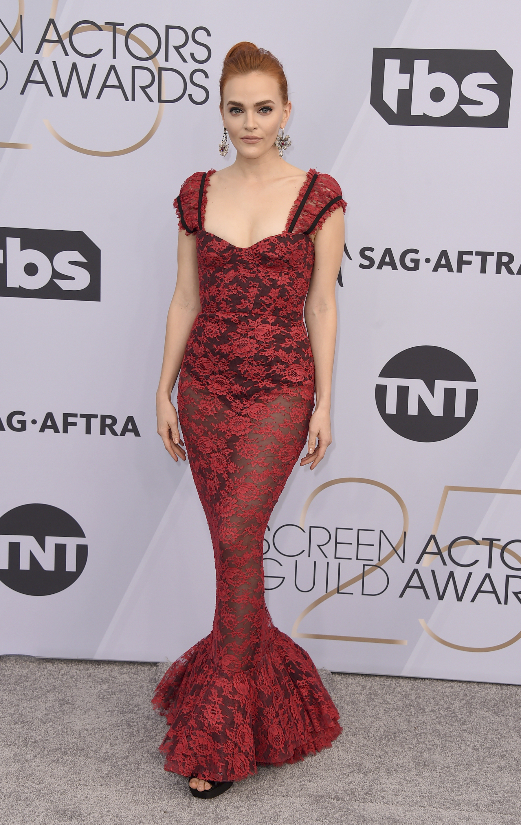 <div class='meta'><div class='origin-logo' data-origin='AP'></div><span class='caption-text' data-credit='Jordan Strauss/Invision/AP'>Madeline Brewer arrives at the 25th annual Screen Actors Guild Awards at the Shrine Auditorium & Expo Hall on Sunday, Jan. 27, 2019, in Los Angeles.</span></div>