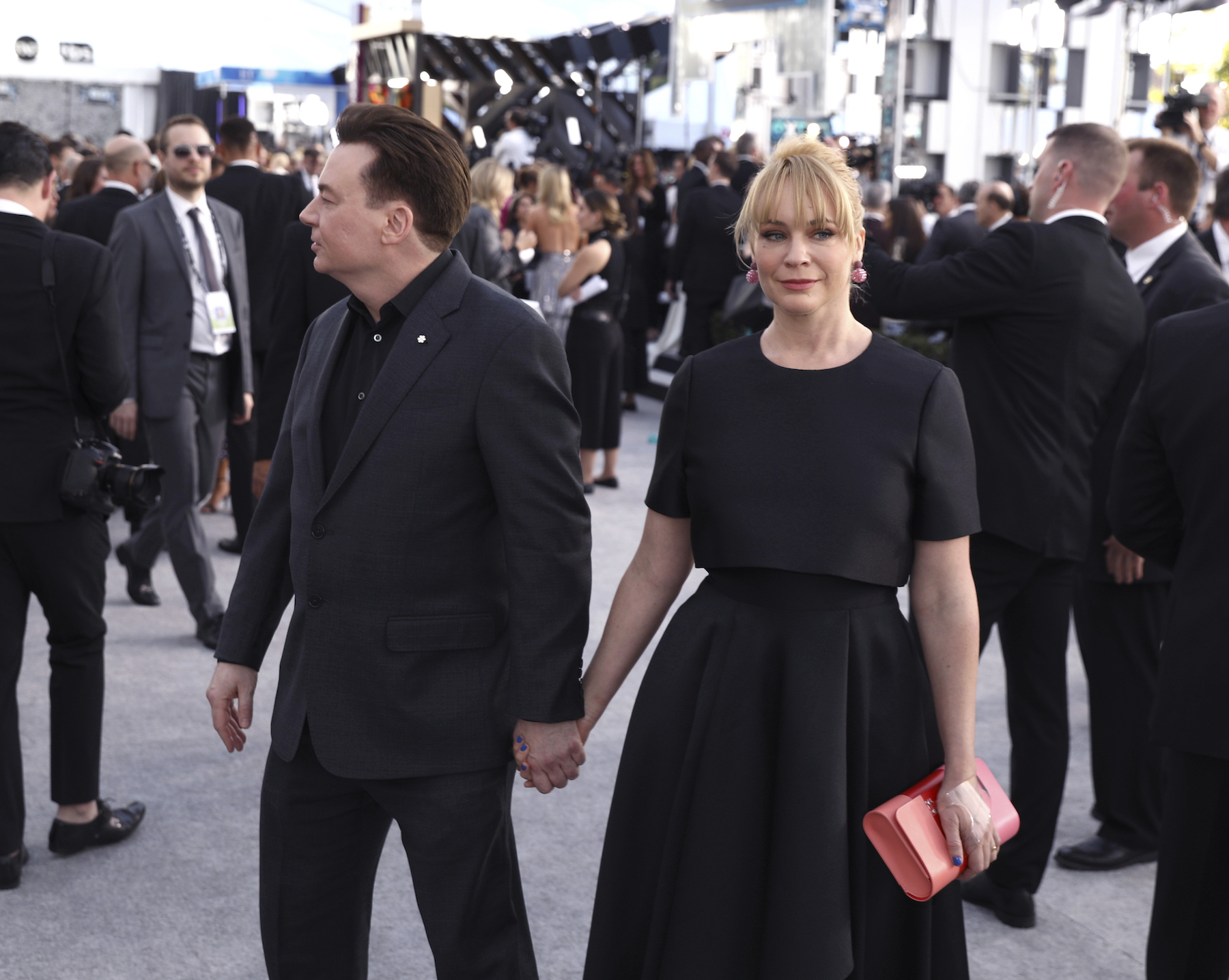 <div class='meta'><div class='origin-logo' data-origin='AP'></div><span class='caption-text' data-credit='Matt Sayles/Invision/AP'>Mike Myers, left, and Kelly Tisdale arrive at the 25th annual Screen Actors Guild Awards at the Shrine Auditorium & Expo Hall on Sunday, Jan. 27, 2019, in Los Angeles.</span></div>