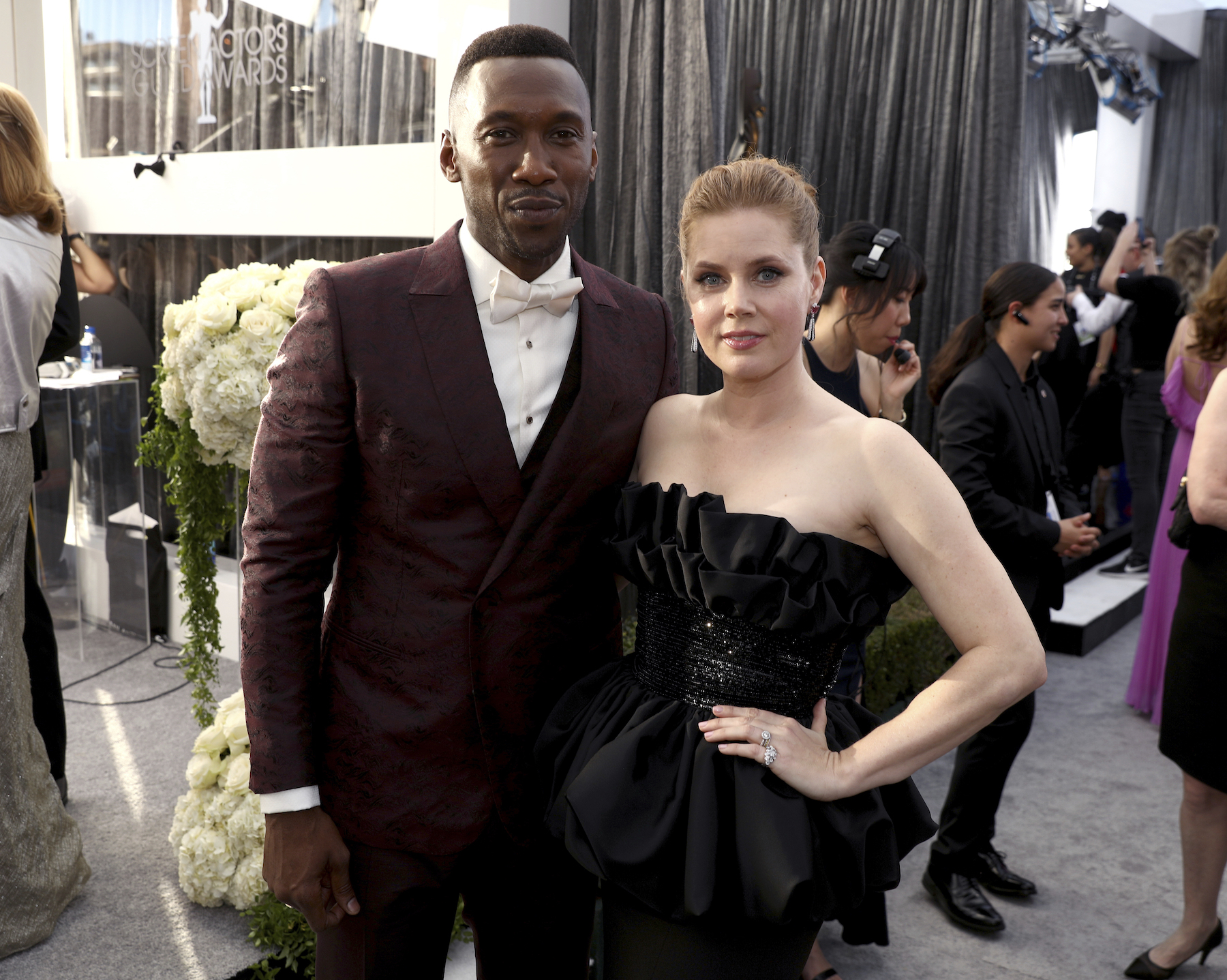"<div class=""meta image-caption""><div class=""origin-logo origin-image ap""><span>AP</span></div><span class=""caption-text"">Mahershala Ali, left, and Amy Adams arrive at the 25th annual Screen Actors Guild Awards at the Shrine Auditorium & Expo Hall on Sunday, Jan. 27, 2019, in Los Angeles. (Matt Sayles/Invision/AP)</span></div>"