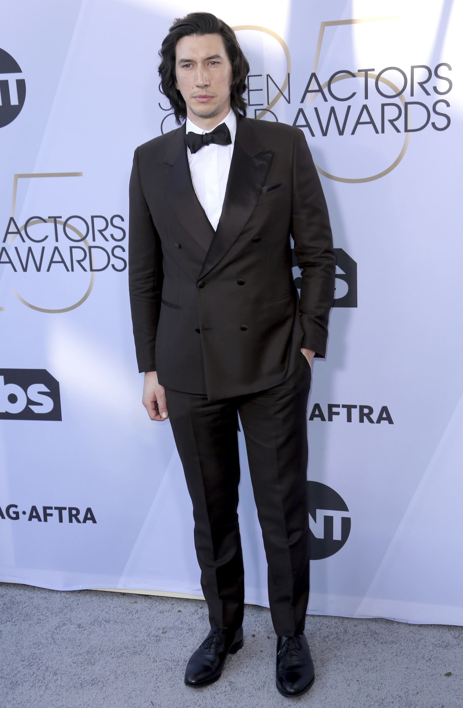 "<div class=""meta image-caption""><div class=""origin-logo origin-image ap""><span>AP</span></div><span class=""caption-text"">Adam Driver arrives at the 25th annual Screen Actors Guild Awards at the Shrine Auditorium & Expo Hall on Sunday, Jan. 27, 2019, in Los Angeles. (Willy Sanjuan/Invision/AP)</span></div>"