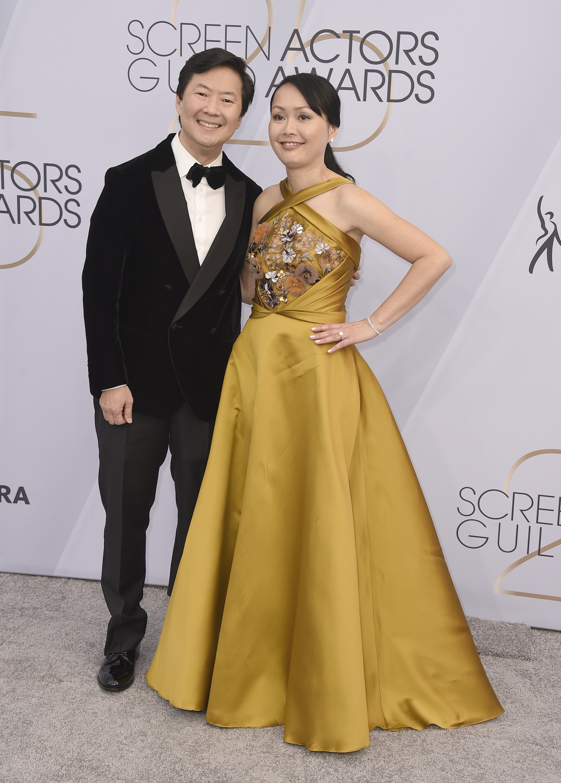 <div class='meta'><div class='origin-logo' data-origin='AP'></div><span class='caption-text' data-credit='Jordan Strauss/Invision/AP'>Ken Jeong, left, and Tran Jeong arrive at the 25th annual Screen Actors Guild Awards at the Shrine Auditorium & Expo Hall on Sunday, Jan. 27, 2019, in Los Angeles.</span></div>