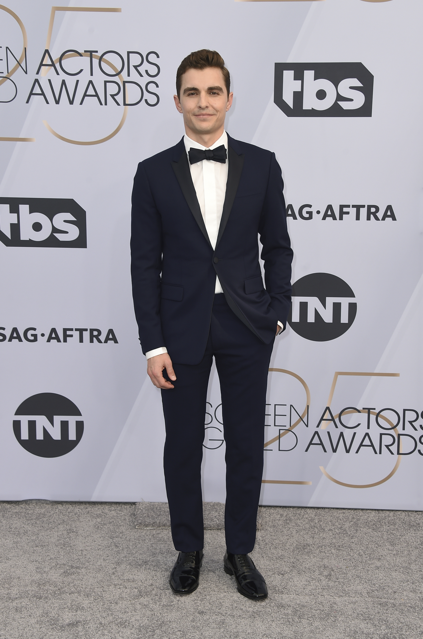 <div class='meta'><div class='origin-logo' data-origin='AP'></div><span class='caption-text' data-credit='Jordan Strauss/Invision/AP'>Dave Franco arrives at the 25th annual Screen Actors Guild Awards at the Shrine Auditorium & Expo Hall on Sunday, Jan. 27, 2019, in Los Angeles.</span></div>