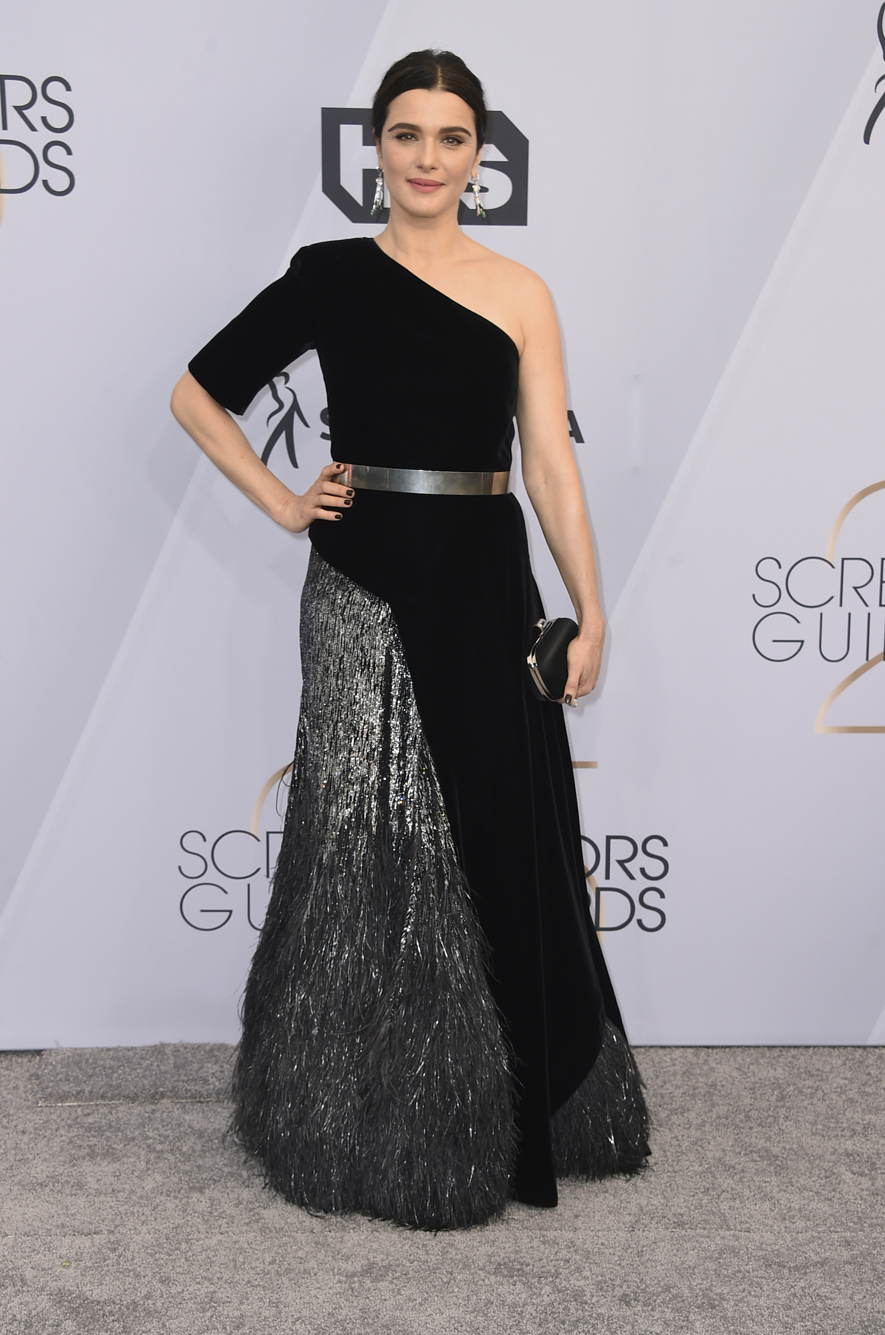 <div class='meta'><div class='origin-logo' data-origin='AP'></div><span class='caption-text' data-credit='Jordan Strauss/Invision/AP'>Rachel Weisz arrives at the 25th annual Screen Actors Guild Awards at the Shrine Auditorium & Expo Hall on Sunday, Jan. 27, 2019, in Los Angeles.</span></div>