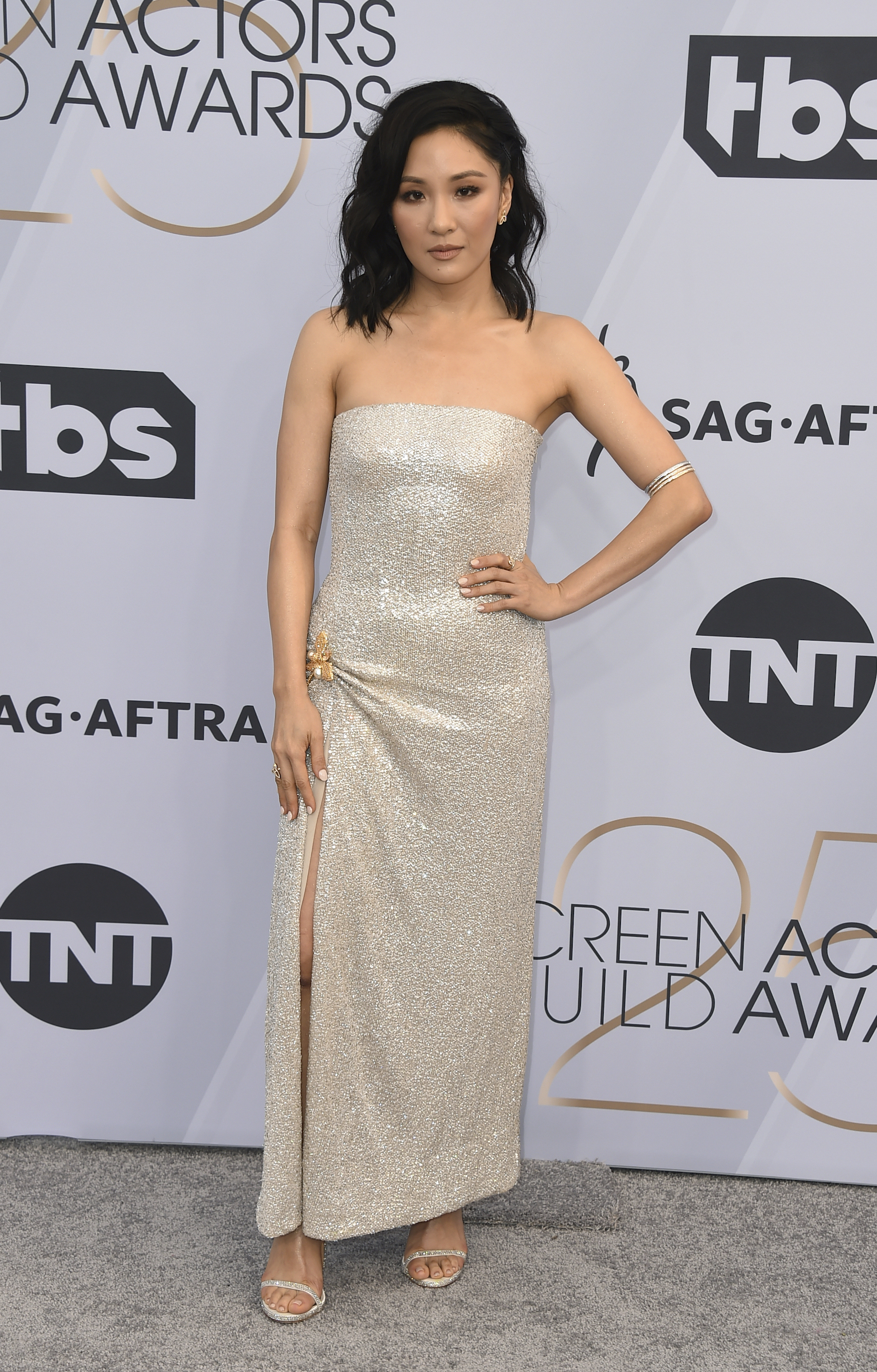 <div class='meta'><div class='origin-logo' data-origin='AP'></div><span class='caption-text' data-credit='Jordan Strauss/Invision/AP'>Constance Wu arrives at the 25th annual Screen Actors Guild Awards at the Shrine Auditorium & Expo Hall on Sunday, Jan. 27, 2019, in Los Angeles.</span></div>
