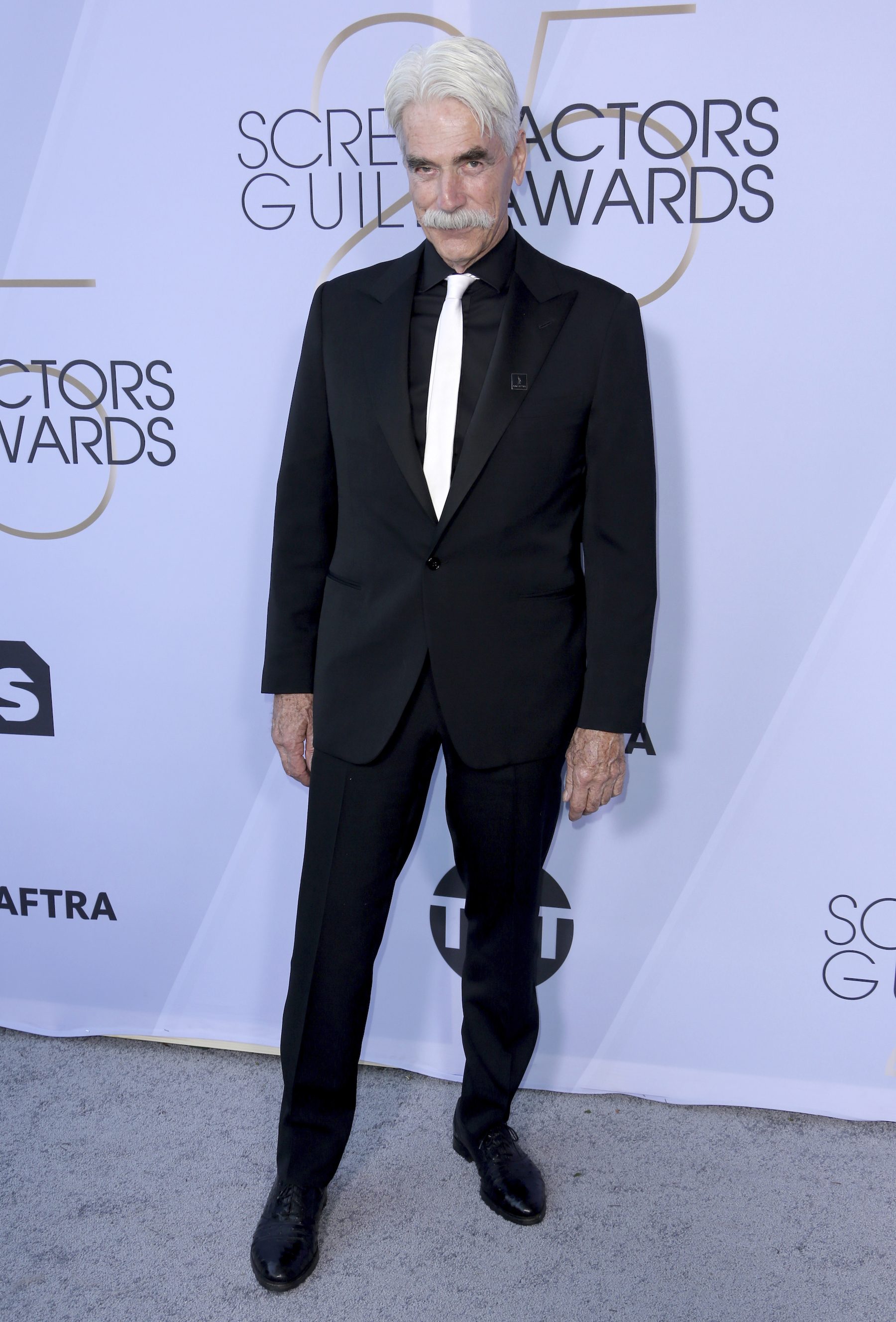 <div class='meta'><div class='origin-logo' data-origin='AP'></div><span class='caption-text' data-credit='Willy Sanjuan/Invision/AP'>Sam Elliott arrives at the 25th annual Screen Actors Guild Awards at the Shrine Auditorium & Expo Hall on Sunday, Jan. 27, 2019, in Los Angeles.</span></div>