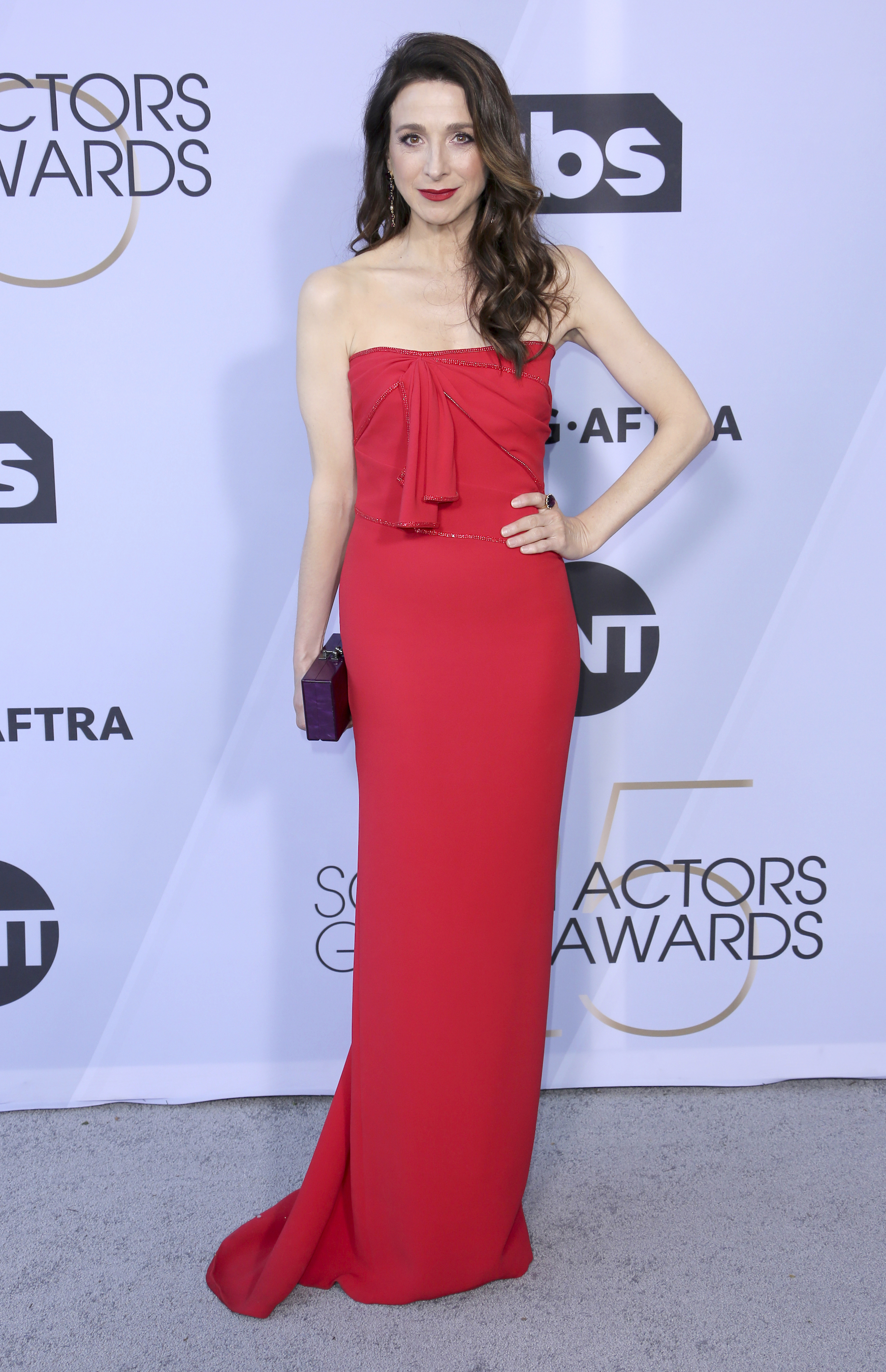 <div class='meta'><div class='origin-logo' data-origin='AP'></div><span class='caption-text' data-credit='Willy Sanjuan/Invision/AP'>Marin Hinkle arrives at the 25th annual Screen Actors Guild Awards at the Shrine Auditorium & Expo Hall on Sunday, Jan. 27, 2019, in Los Angeles.</span></div>