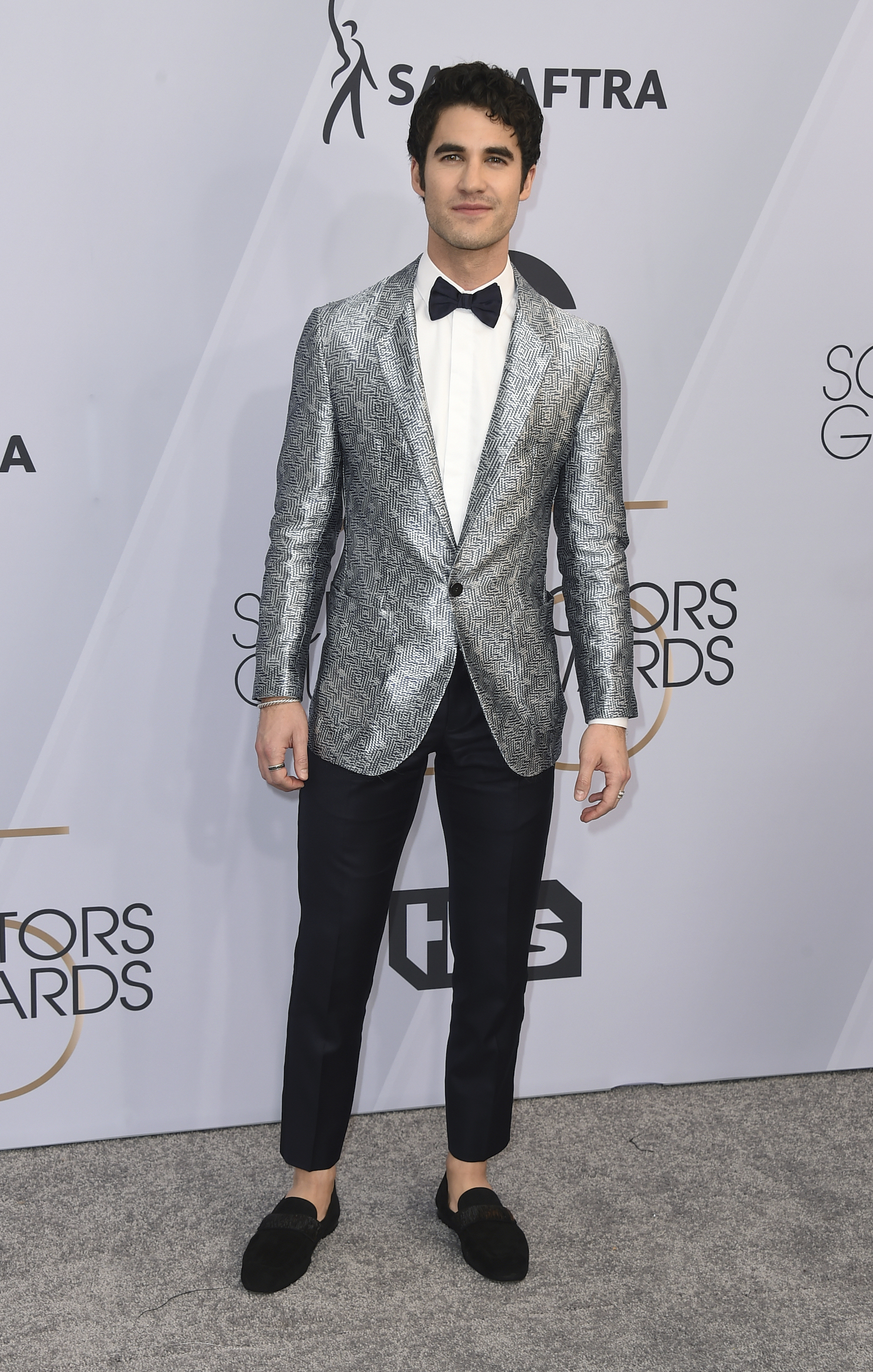 <div class='meta'><div class='origin-logo' data-origin='AP'></div><span class='caption-text' data-credit='Jordan Strauss/Invision/AP'>Darren Criss arrives at the 25th annual Screen Actors Guild Awards at the Shrine Auditorium & Expo Hall on Sunday, Jan. 27, 2019, in Los Angeles.</span></div>