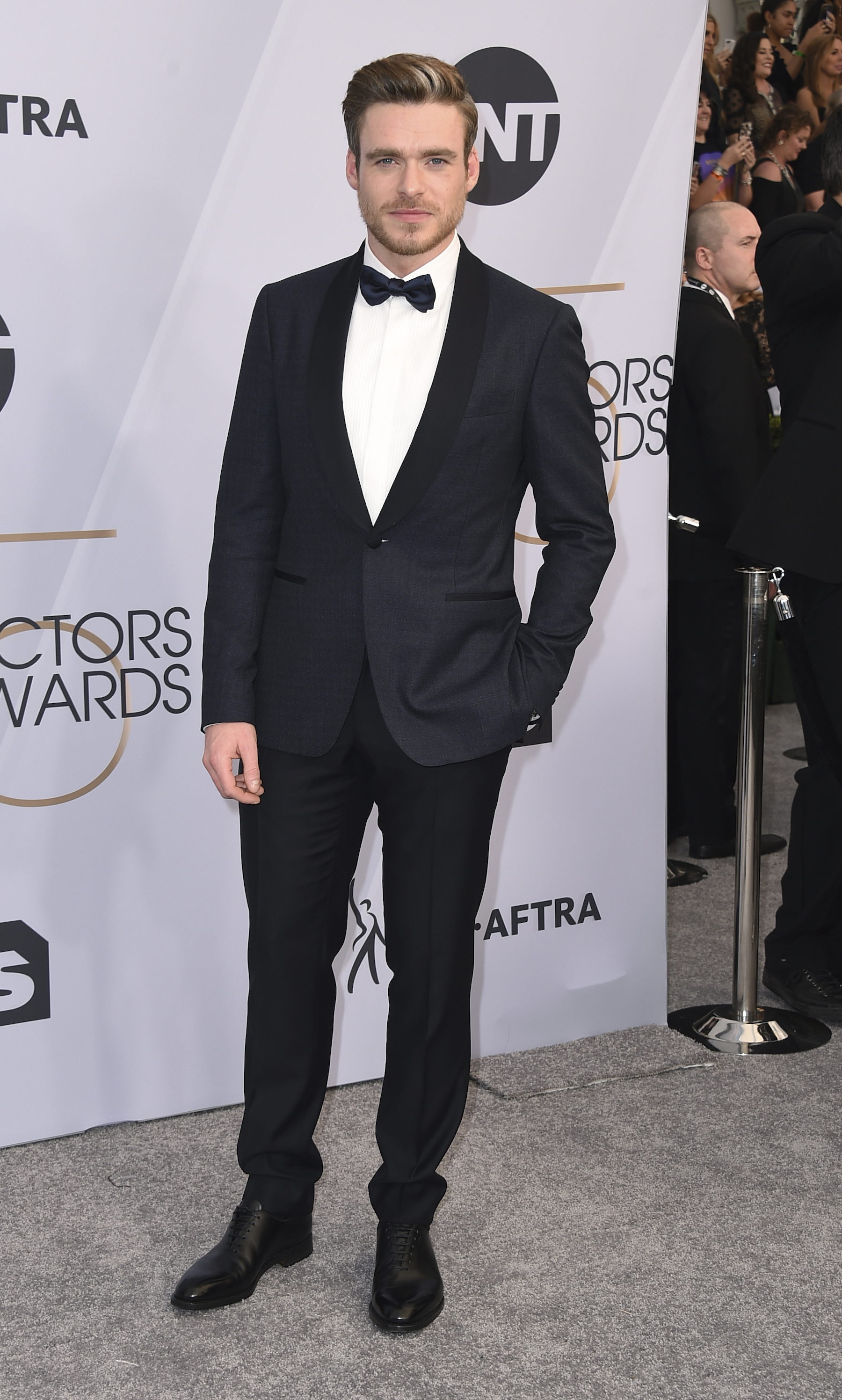 "<div class=""meta image-caption""><div class=""origin-logo origin-image ap""><span>AP</span></div><span class=""caption-text"">Richard Madden arrives at the 25th annual Screen Actors Guild Awards at the Shrine Auditorium & Expo Hall on Sunday, Jan. 27, 2019, in Los Angeles. (Jordan Strauss/Invision/AP)</span></div>"