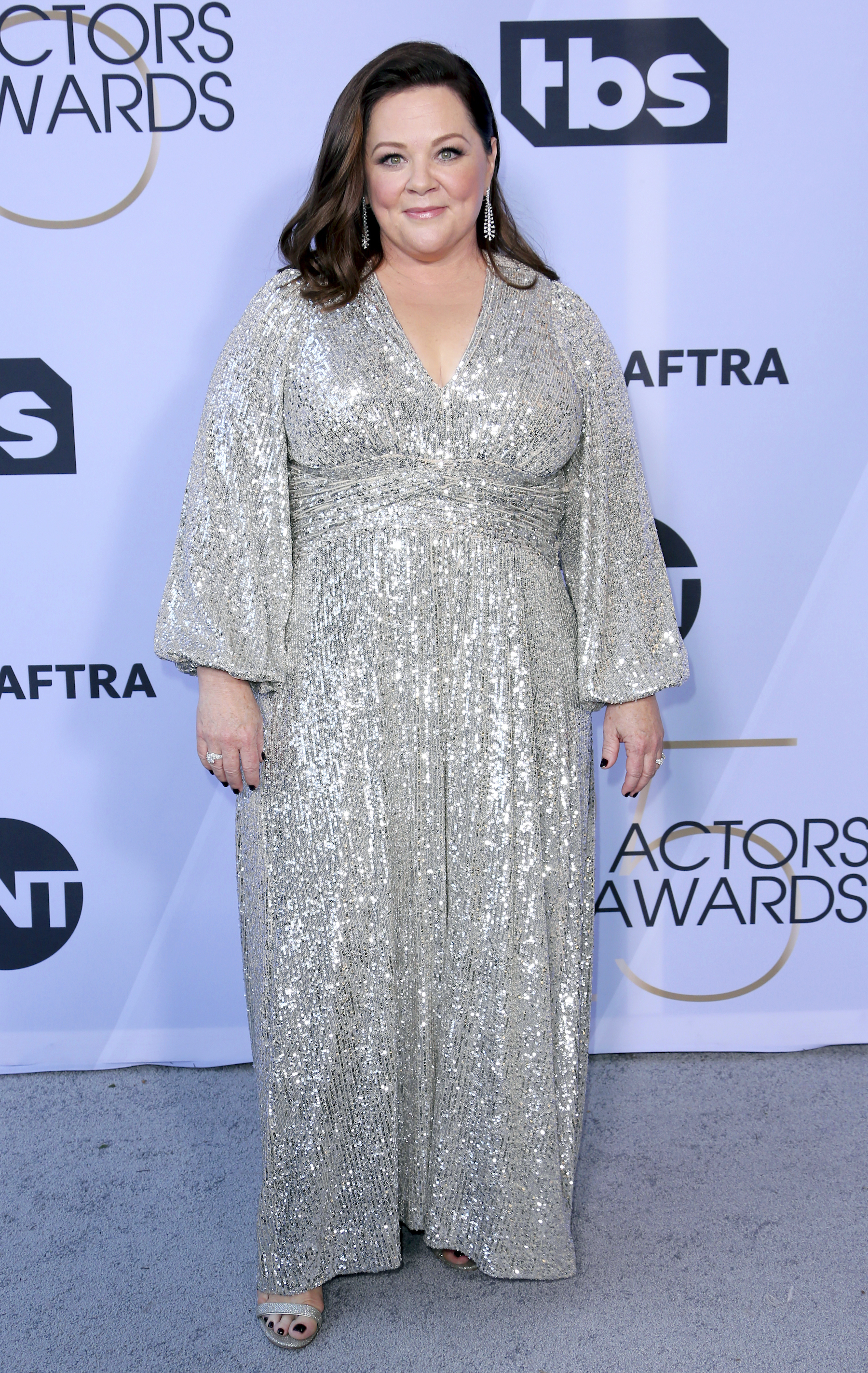 <div class='meta'><div class='origin-logo' data-origin='AP'></div><span class='caption-text' data-credit='Willy Sanjuan/Invision/AP'>Melissa McCarthy arrives at the 25th annual Screen Actors Guild Awards at the Shrine Auditorium & Expo Hall on Sunday, Jan. 27, 2019, in Los Angeles.</span></div>