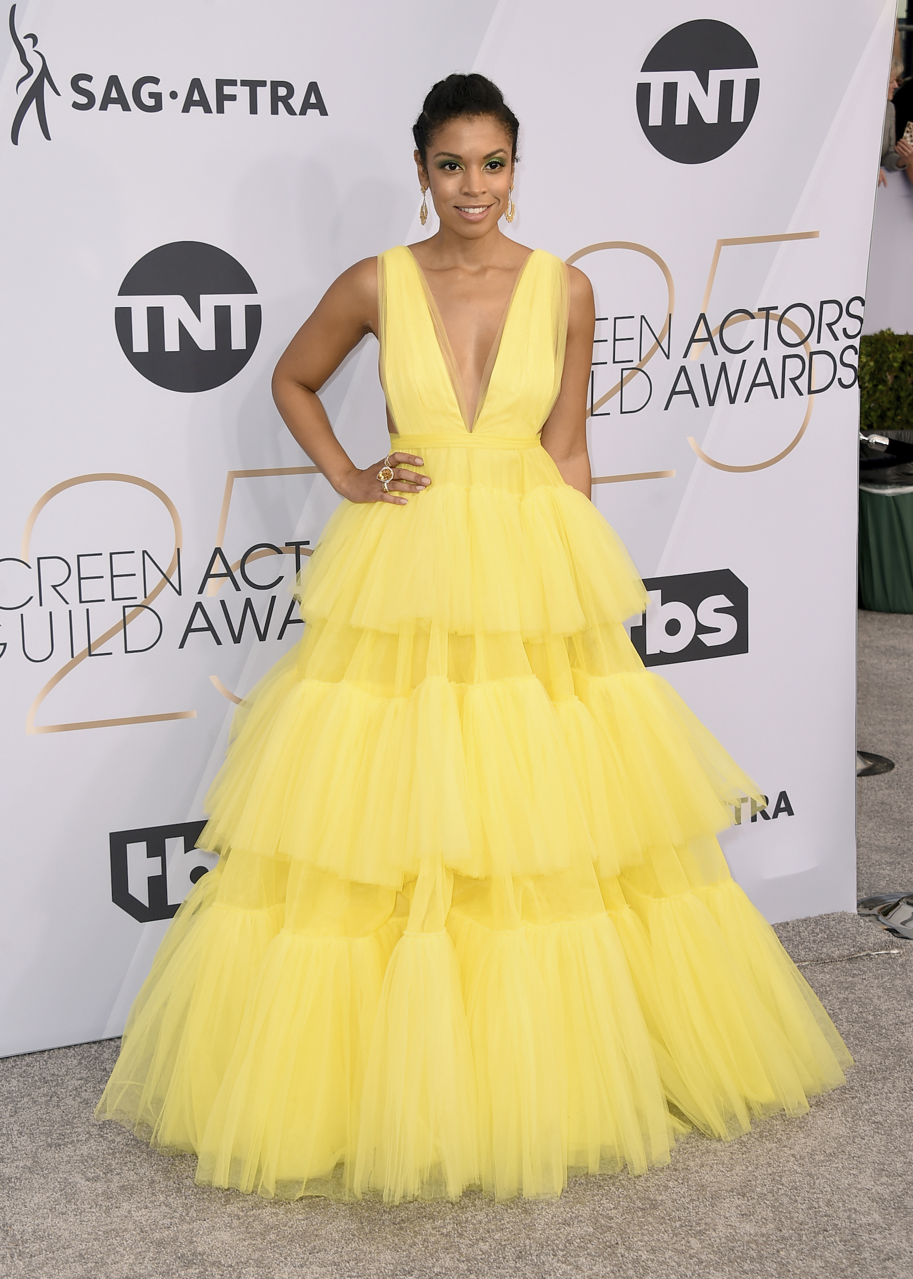 <div class='meta'><div class='origin-logo' data-origin='AP'></div><span class='caption-text' data-credit='Jordan Strauss/Invision/AP'>Susan Kelechi Watson arrives at the 25th annual Screen Actors Guild Awards at the Shrine Auditorium & Expo Hall on Sunday, Jan. 27, 2019, in Los Angeles.</span></div>