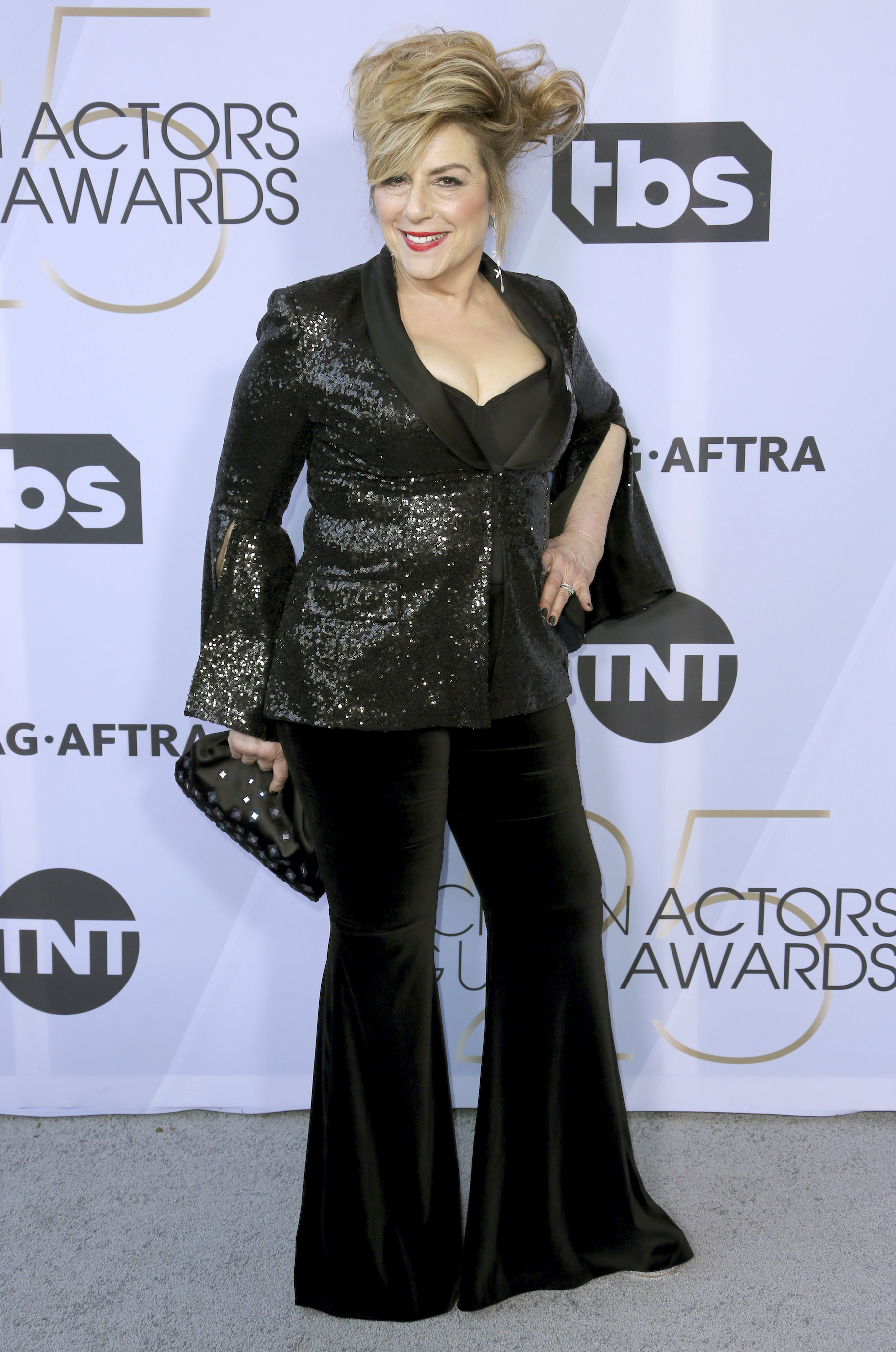 <div class='meta'><div class='origin-logo' data-origin='AP'></div><span class='caption-text' data-credit='Willy Sanjuan/Invision/AP'>Caroline Aaron arrives at the 25th annual Screen Actors Guild Awards at the Shrine Auditorium & Expo Hall on Sunday, Jan. 27, 2019, in Los Angeles.</span></div>