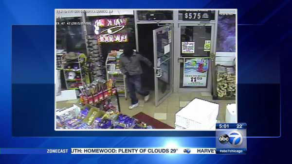 "<div class=""meta image-caption""><div class=""origin-logo origin-image none""><span>none</span></div><span class=""caption-text"">A surveillance photo shows suspect in armed robbery of Sunrise Food and Liquors in far north suburban Woodstock. (WLS Photo)</span></div>"