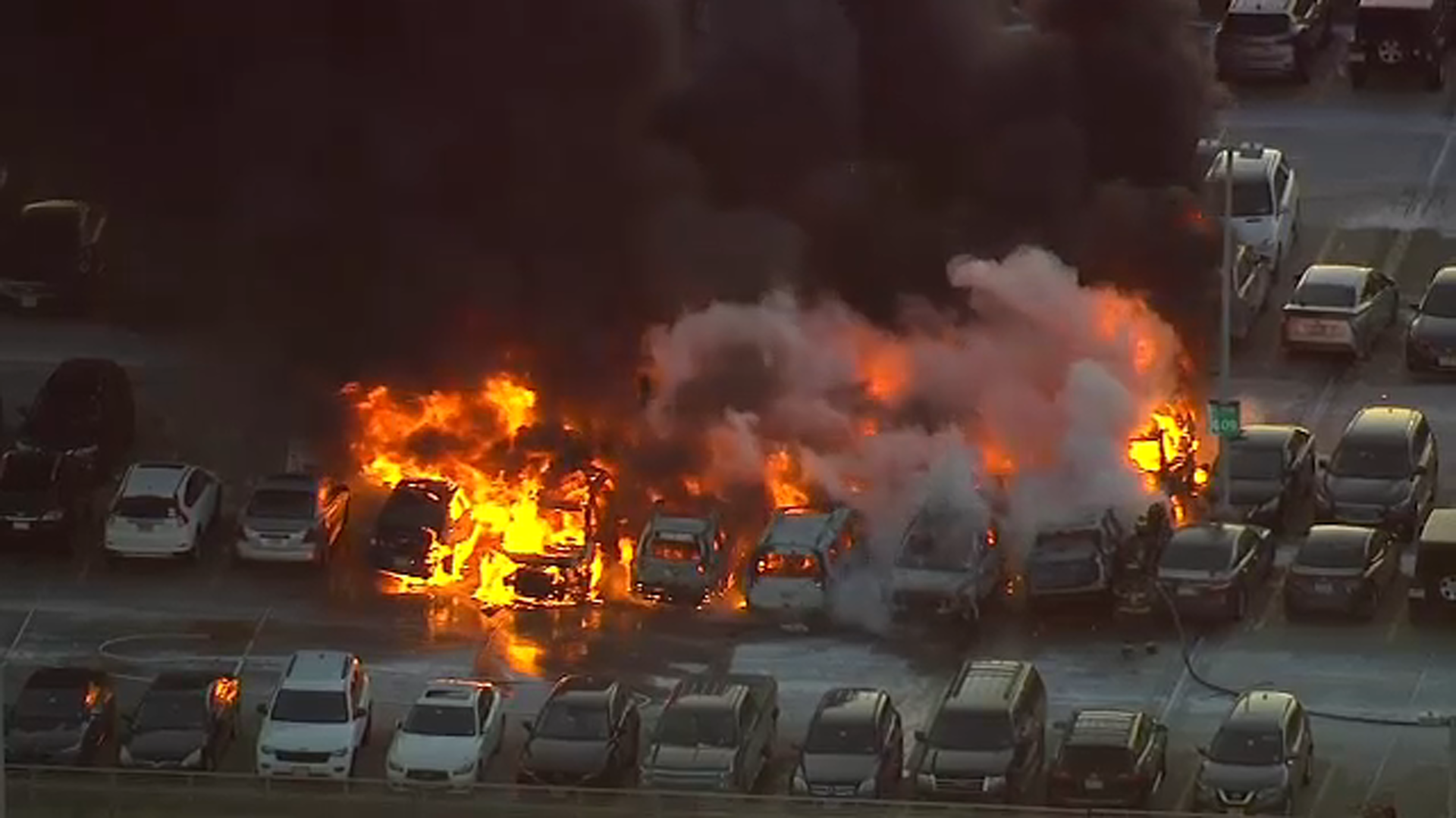 Car Catches Garage On Fire In Rochester: 17 Cars Catch Fire At Newark Airport Parking Garage