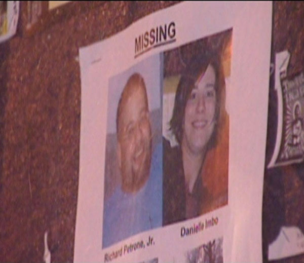 <div class='meta'><div class='origin-logo' data-origin='none'></div><span class='caption-text' data-credit=''>Pictured: A missing persons poster with the photos of Danielle Imbo and Richard Petrone.</span></div>