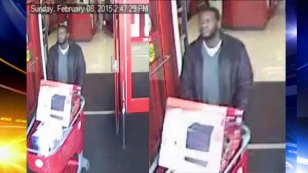 Suspect sought in stolen credit card theft