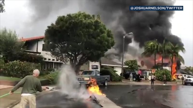Yorba Linda: 5 killed after plane crash sparks house fires