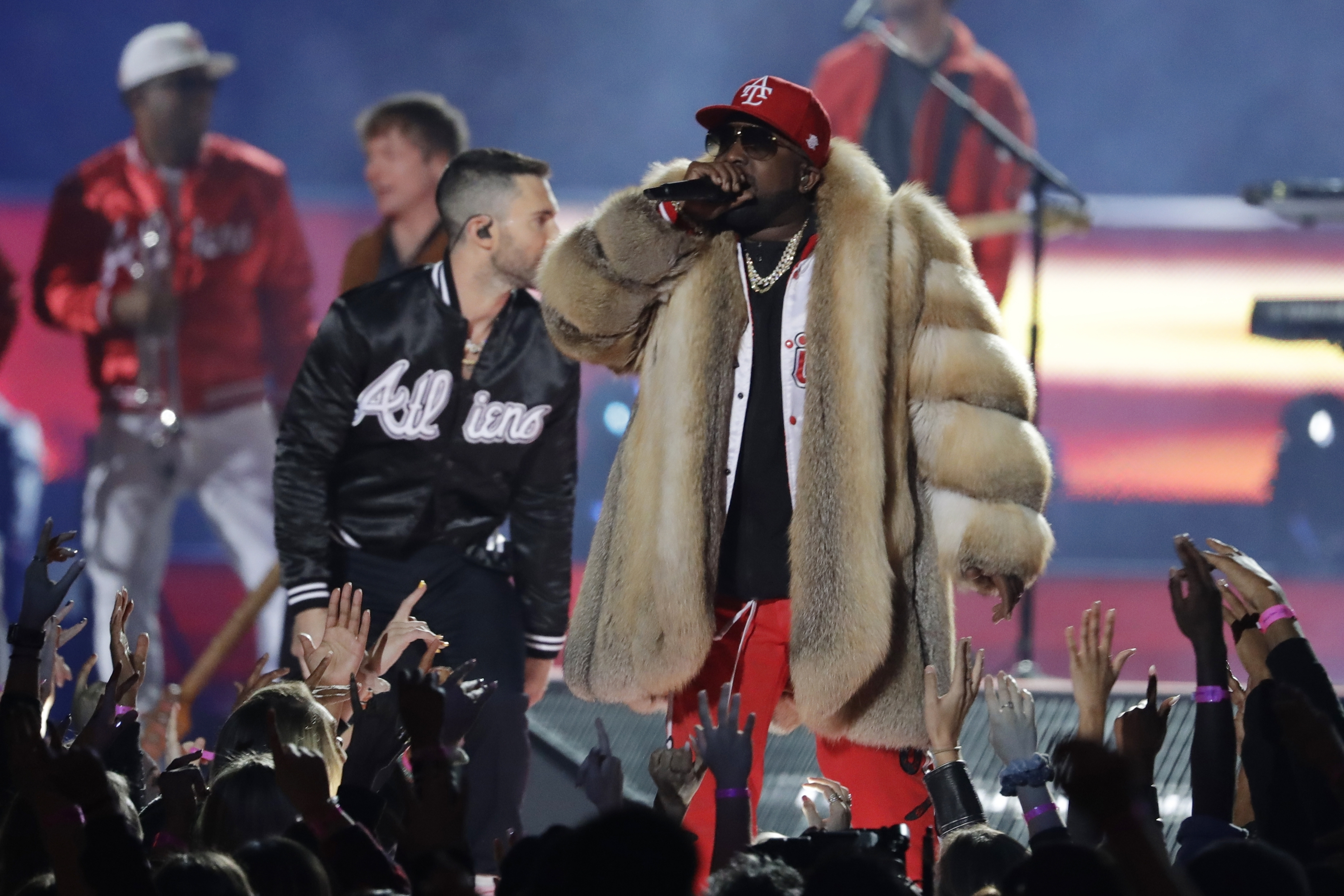 "<div class=""meta image-caption""><div class=""origin-logo origin-image ap""><span>AP</span></div><span class=""caption-text"">Big Boi performs during halftime of the NFL Super Bowl 53 football game between the Los Angeles Rams and the New England Patriots Sunday, Feb. 3, 2019, in Atlanta. (AP Photo/Jeff Roberson))</span></div>"