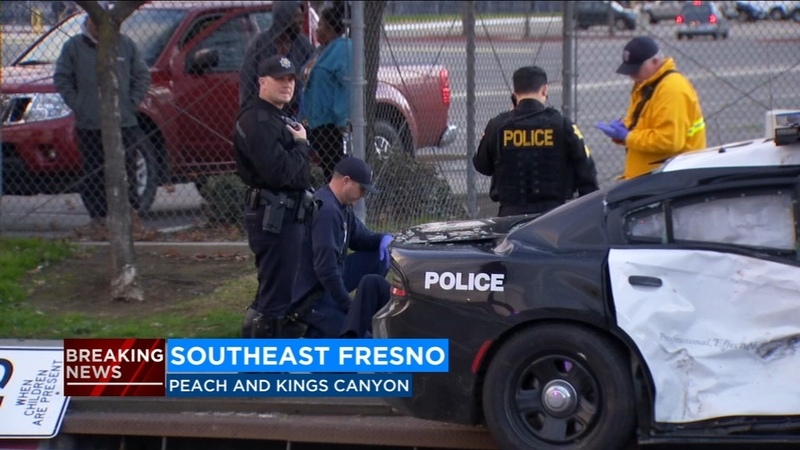 Fresno Police officer involved in crash in Southeast Fresno