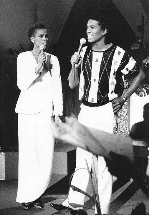 """<div class=""""meta image-caption""""><div class=""""origin-logo origin-image none""""><span>none</span></div><span class=""""caption-text"""">July 1984: Houston, left, and Jermaine Jackson sing during a rehearsal for the CBS television soap opera """"As the World Turns"""" in New York. (Photo/AP Photo)</span></div>"""