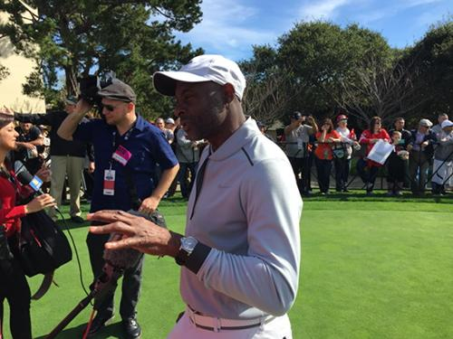 "<div class=""meta image-caption""><div class=""origin-logo origin-image none""><span>none</span></div><span class=""caption-text"">49ers legend, Jerry Rice, explaining his strategy for the shootout at AT&T Pebble Beach National Pro-Am on Tuesday, Feb. 10, 2015. (ABC7 News/Mike Shumann)</span></div>"