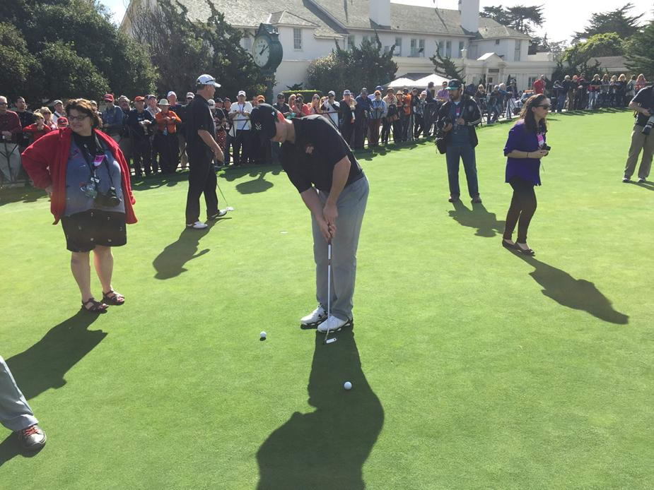 "<div class=""meta image-caption""><div class=""origin-logo origin-image none""><span>none</span></div><span class=""caption-text"">SF Giants Buster Posey is the rookie at AT&T Pebble Beach National Pro-Am on Tuesday, Feb. 10, 2015. (ABC7 News/Mike Shumann)</span></div>"