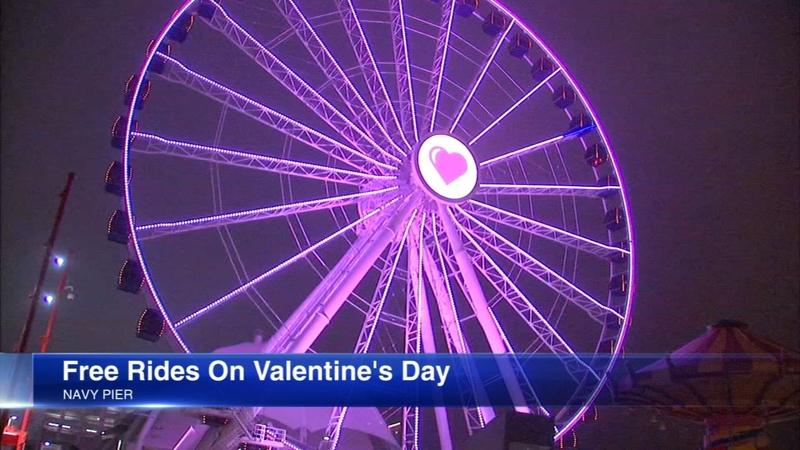 Navy Pier offers free Ferris wheel rides for Valentine's Day