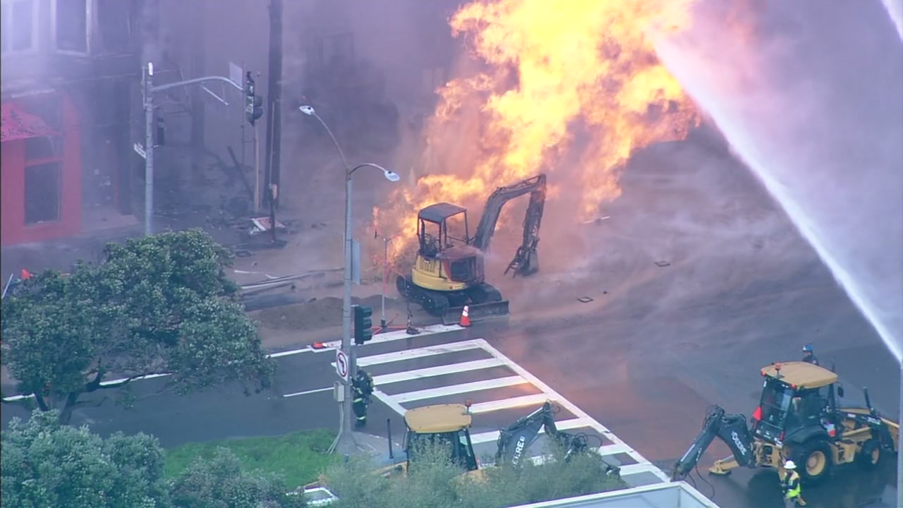 <div class='meta'><div class='origin-logo' data-origin='none'></div><span class='caption-text' data-credit='SKY7'>This image shows crews responding to a gas explosion and fire in the Richmond District of San Francisco, Calif. on Wednesday, Feb. 06, 2019.</span></div>