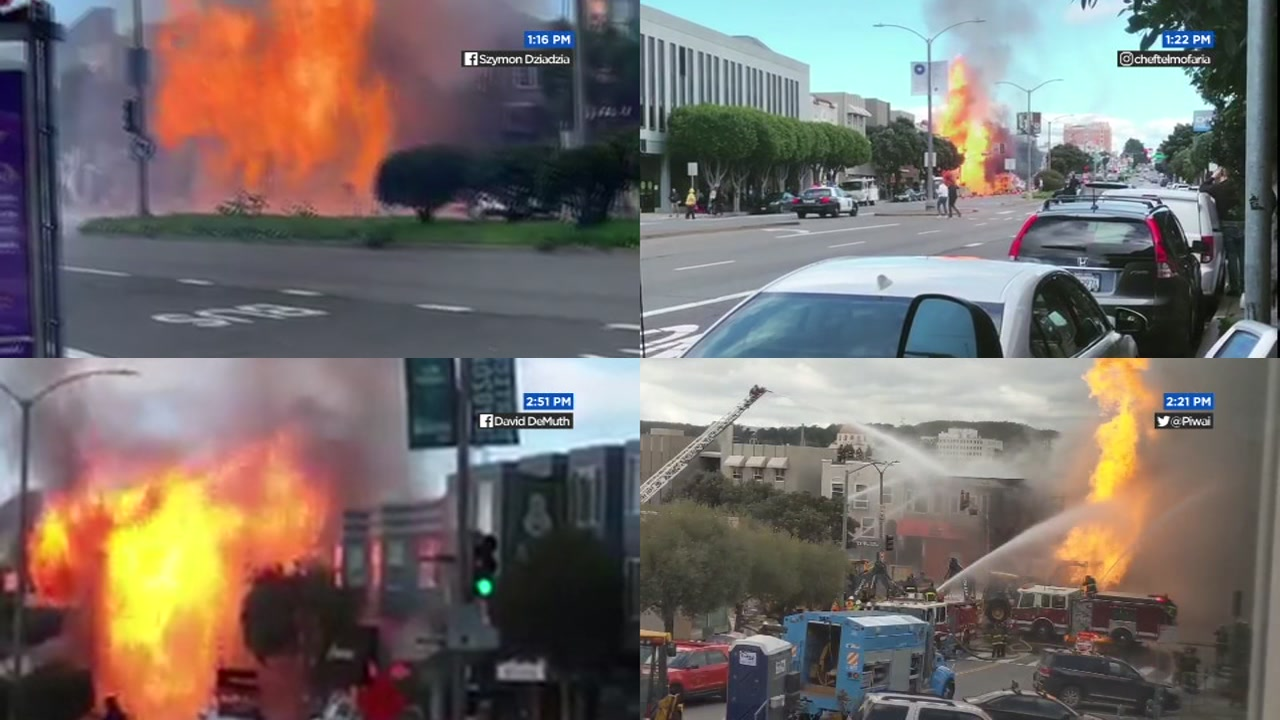 Gas explosion, fire on Geary near Hong Kong Lounge II prompt