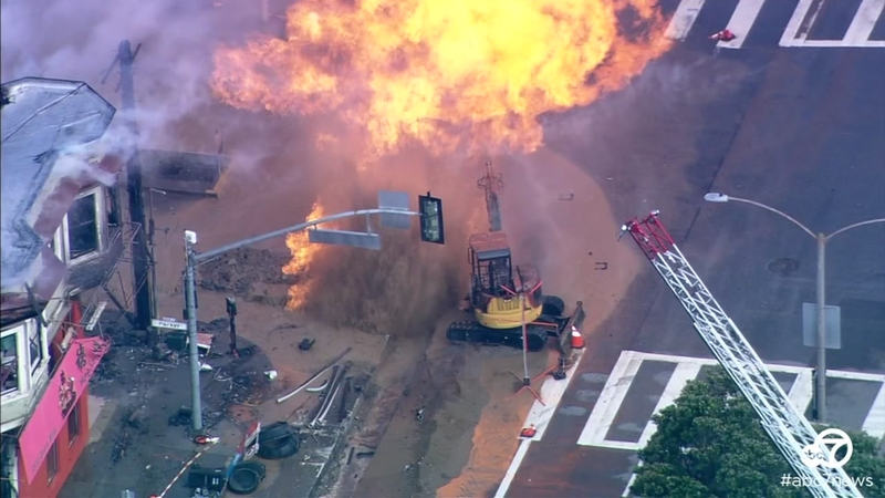 VIDEO: A look at the fire, aftermath following SF gas explosion
