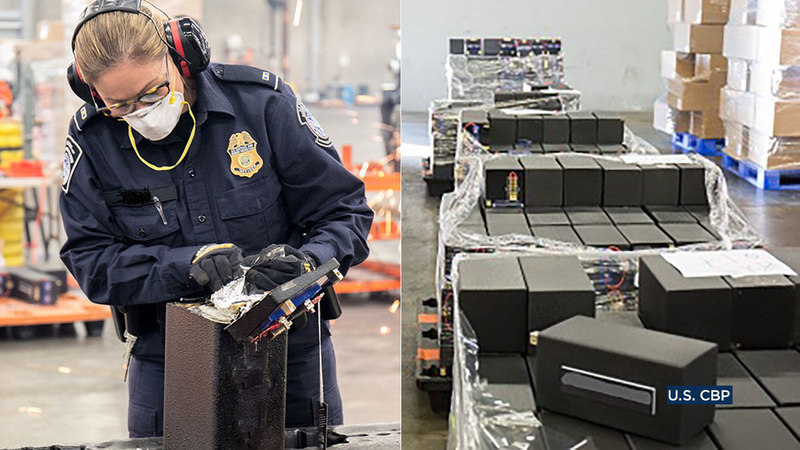 Feds seize 1 7 tons of drugs at Long Beach port