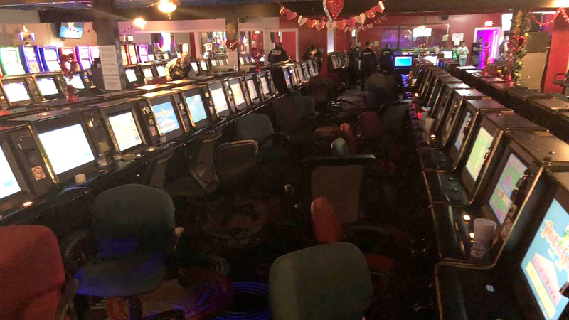 Piles of money and gaming machines seized in bust: constable