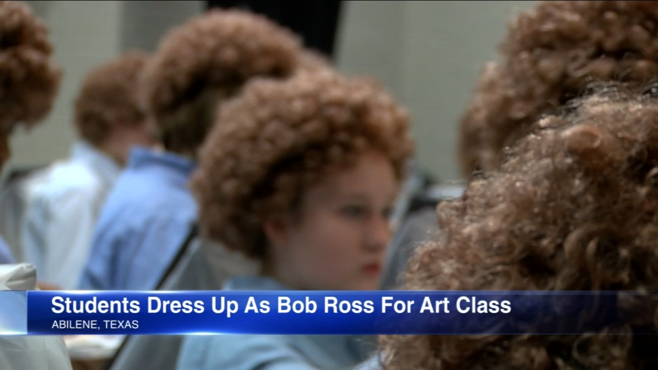 Texas Students Don Wigs In Tribute To Late Painter Bob Ross