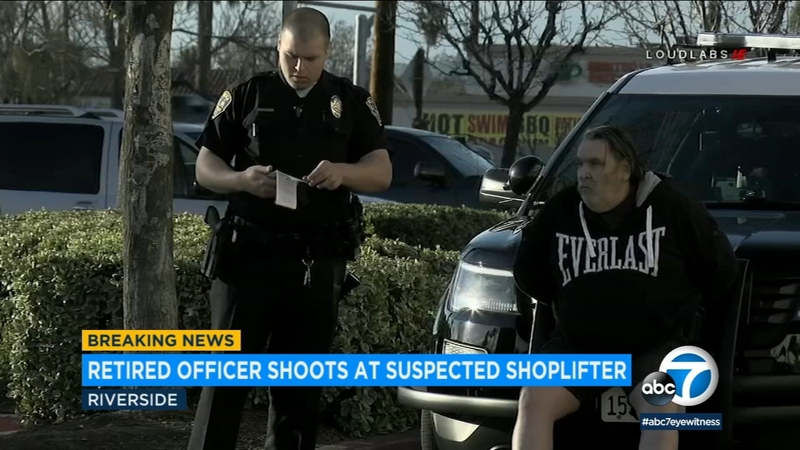 Retired officer arrested after shooting at shoplifting suspect in Riverside