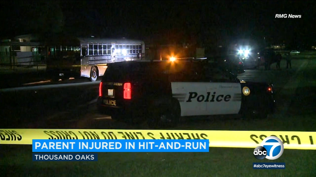 Police were investigating after a school employee was struck by a hit-and-run driver at Thousand Oaks High School.