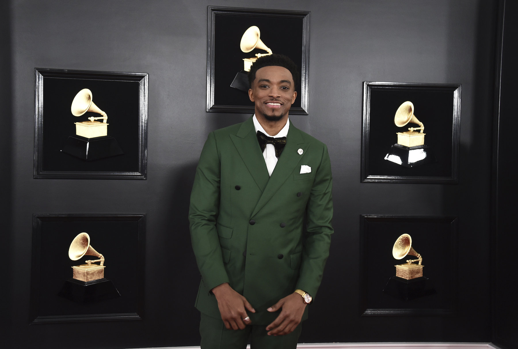 <div class='meta'><div class='origin-logo' data-origin='AP'></div><span class='caption-text' data-credit='Jordan Strauss/Invision/AP'>Jonathan McReynolds arrives at the 61st annual Grammy Awards at the Staples Center on Sunday, Feb. 10, 2019, in Los Angeles.</span></div>