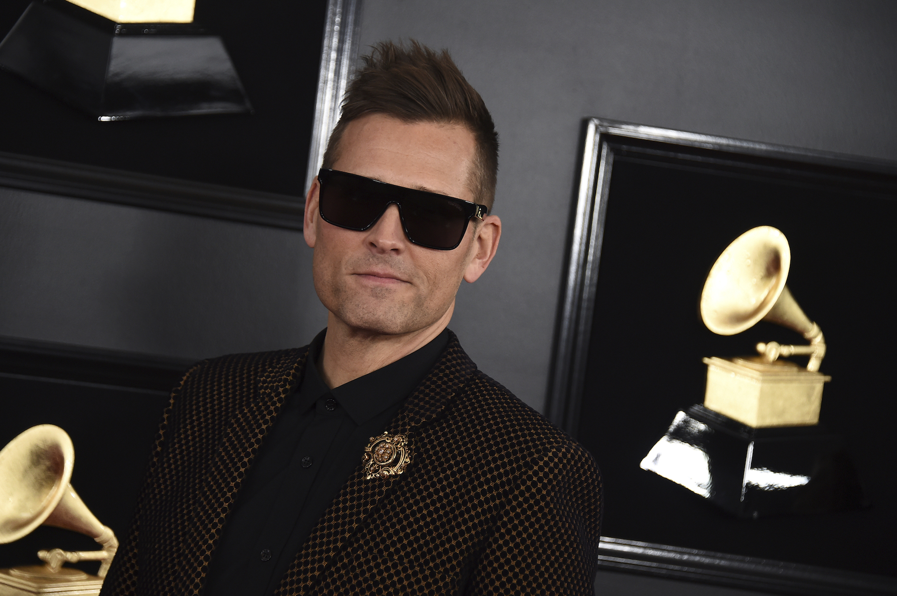 <div class='meta'><div class='origin-logo' data-origin='AP'></div><span class='caption-text' data-credit='Jordan Strauss/Invision/AP'>Kaskade arrives at the 61st annual Grammy Awards at the Staples Center on Sunday, Feb. 10, 2019, in Los Angeles.</span></div>
