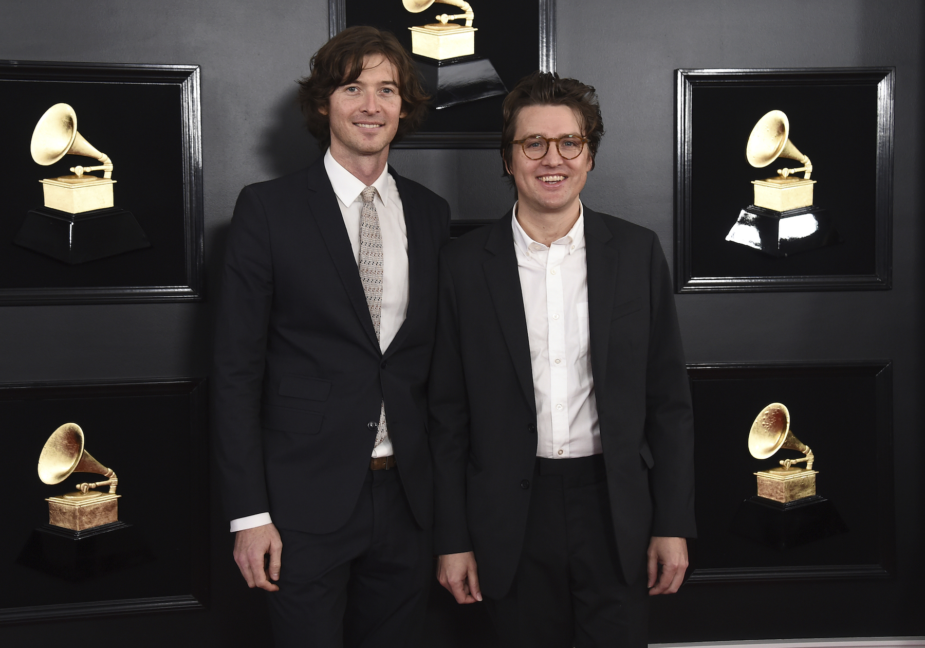 "<div class=""meta image-caption""><div class=""origin-logo origin-image ap""><span>AP</span></div><span class=""caption-text"">Joey Ryan, left, and Kenneth Pattengale of ""The Milk Carton Kids"" arrive at the 61st annual Grammy Awards at the Staples Center on Sunday, Feb. 10, 2019, in Los Angeles. (Jordan Strauss/Invision/AP)</span></div>"