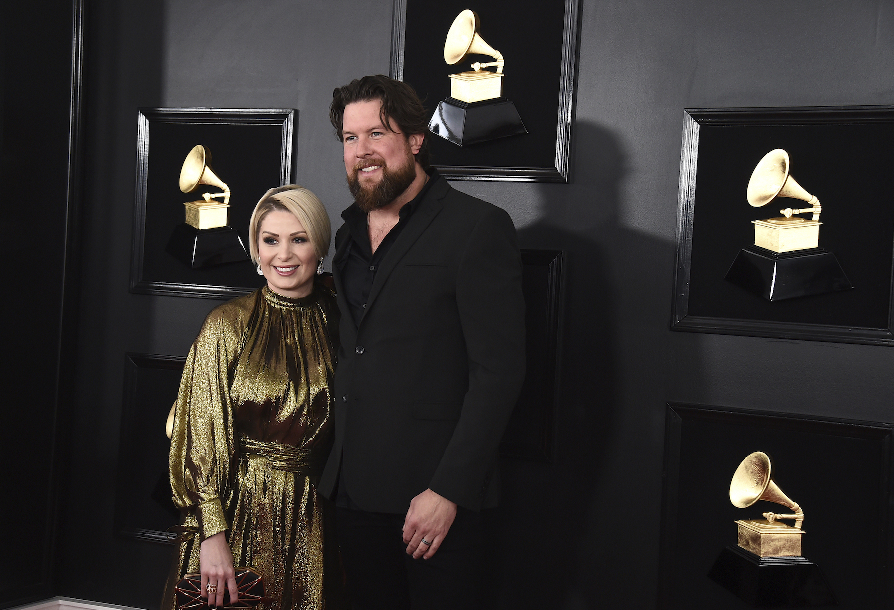 <div class='meta'><div class='origin-logo' data-origin='AP'></div><span class='caption-text' data-credit='Jordan Strauss/Invision/AP'>Zach Williams, right, and Crystal Williams arrive at the 61st annual Grammy Awards at the Staples Center on Sunday, Feb. 10, 2019, in Los Angeles.</span></div>