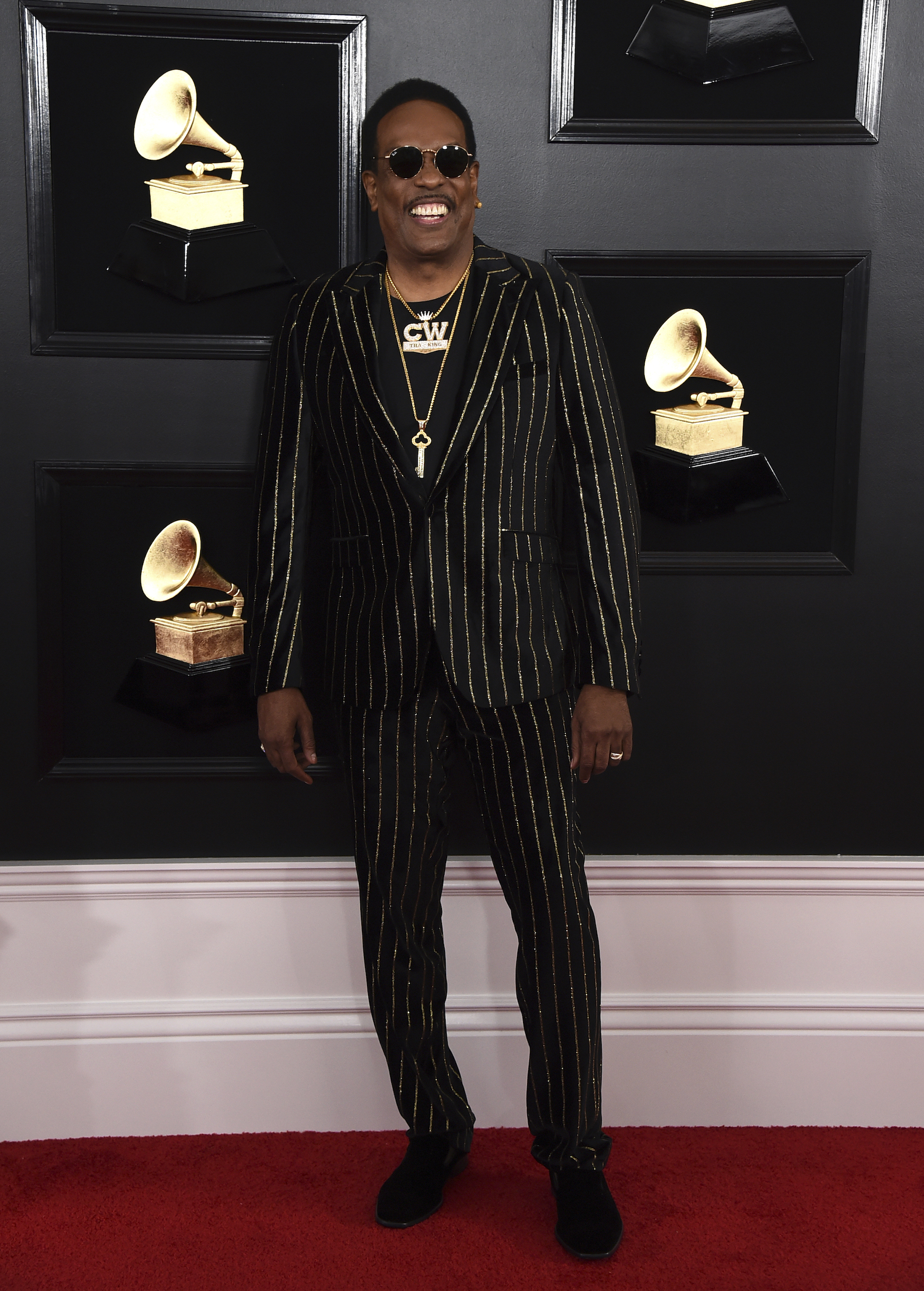 <div class='meta'><div class='origin-logo' data-origin='AP'></div><span class='caption-text' data-credit='Jordan Strauss/Invision/AP'>Charlie Wilson arrives at the 61st annual Grammy Awards at the Staples Center on Sunday, Feb. 10, 2019, in Los Angeles.</span></div>