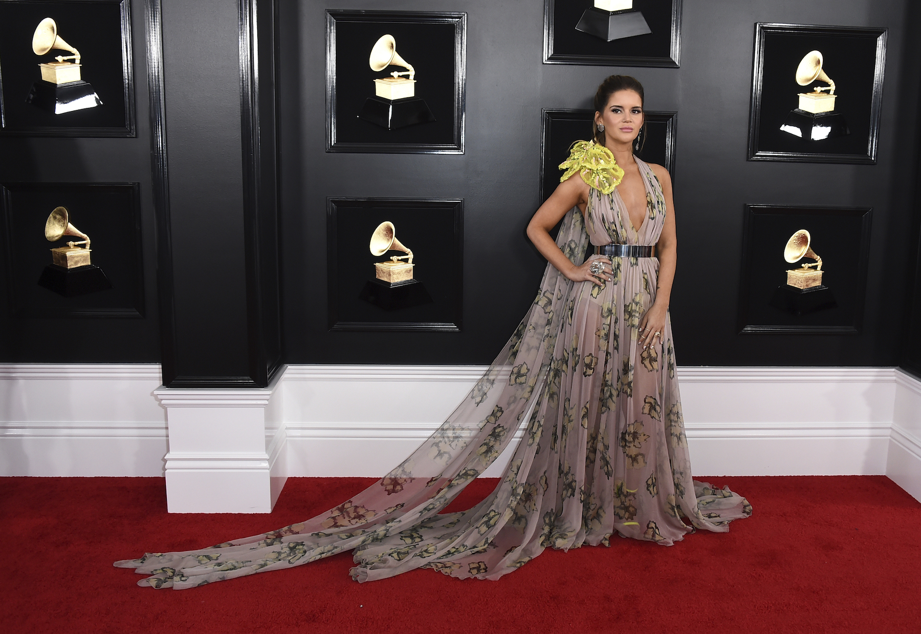 "<div class=""meta image-caption""><div class=""origin-logo origin-image ap""><span>AP</span></div><span class=""caption-text"">Maren Morris arrives at the 61st annual Grammy Awards at the Staples Center on Sunday, Feb. 10, 2019, in Los Angeles. (Jordan Strauss/Invision/AP)</span></div>"