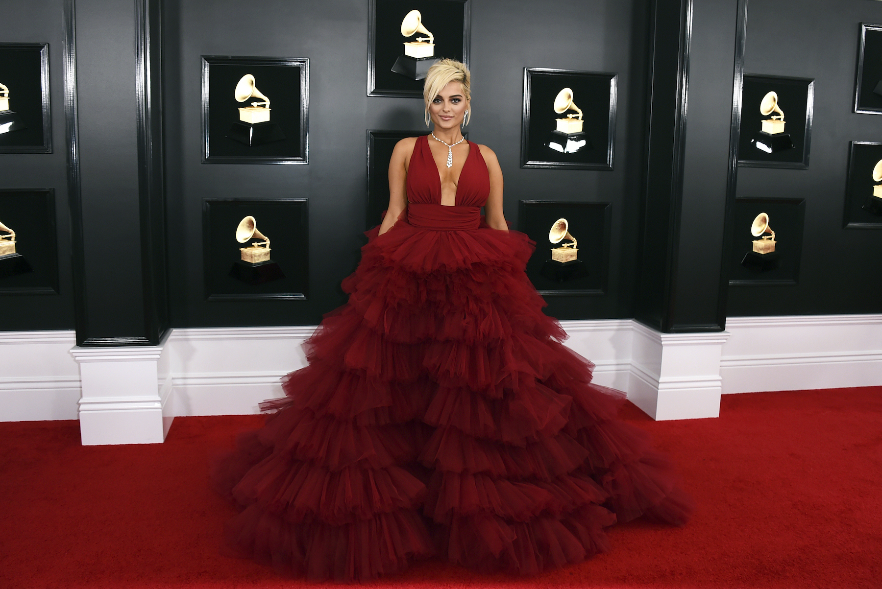 <div class='meta'><div class='origin-logo' data-origin='AP'></div><span class='caption-text' data-credit='Jordan Strauss/Invision/AP'>Bebe Rexha arrives at the 61st annual Grammy Awards at the Staples Center on Sunday, Feb. 10, 2019, in Los Angeles.</span></div>