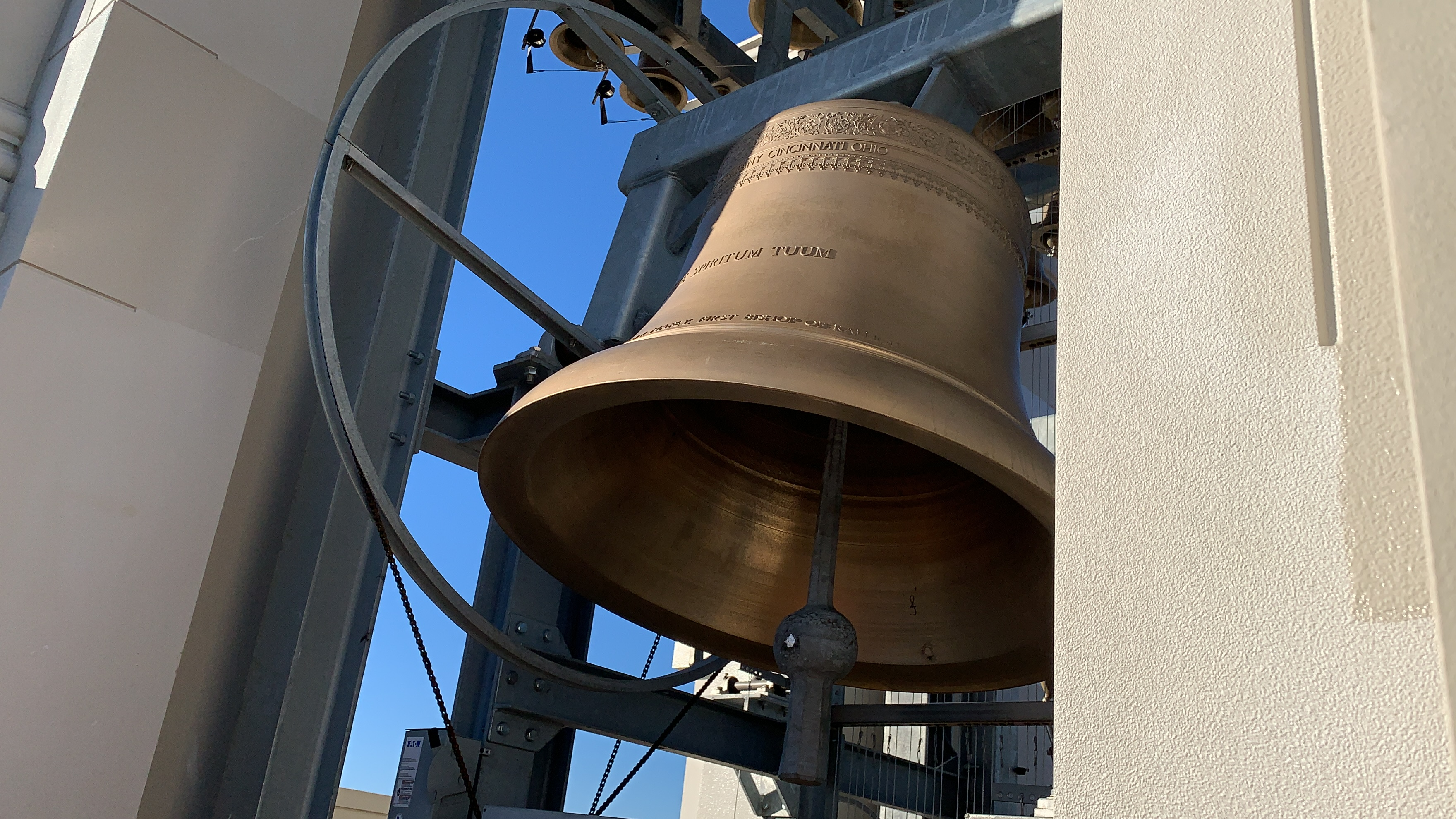 <div class='meta'><div class='origin-logo' data-origin='WTVD'></div><span class='caption-text' data-credit='Credit: Julie Wilson'>The bells on top of Holy Name of Jesus Cathedral can be heard roughly one mile away</span></div>