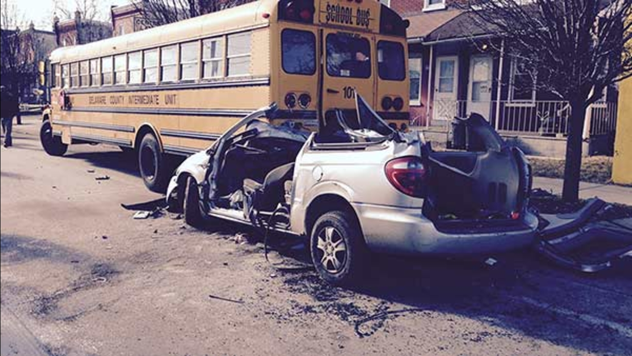 School bus crash in Chester
